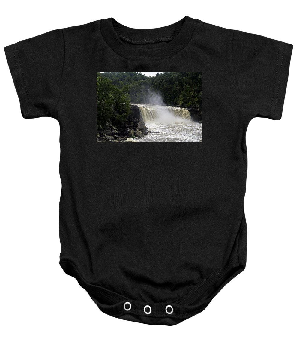 Landscape Baby Onesie featuring the photograph Raw Power by Ken Frischkorn