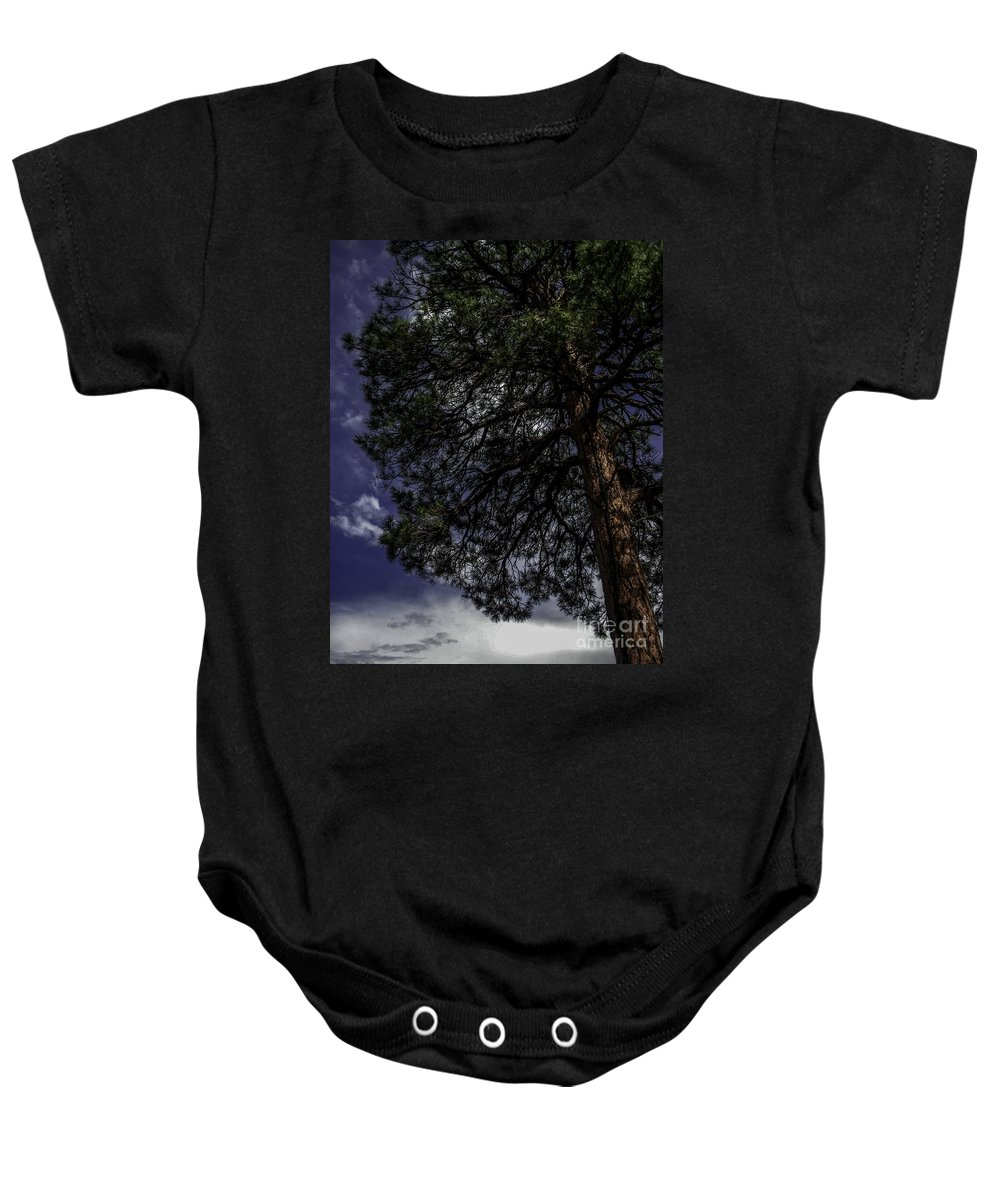 Lovejoy Baby Onesie featuring the photograph Reach The Sky by Lovejoy Creations