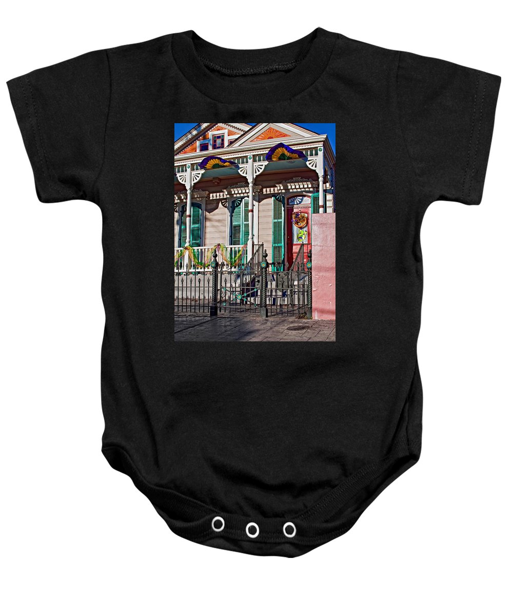 Mardi Gras Baby Onesie featuring the photograph Ready To Party by Steve Harrington