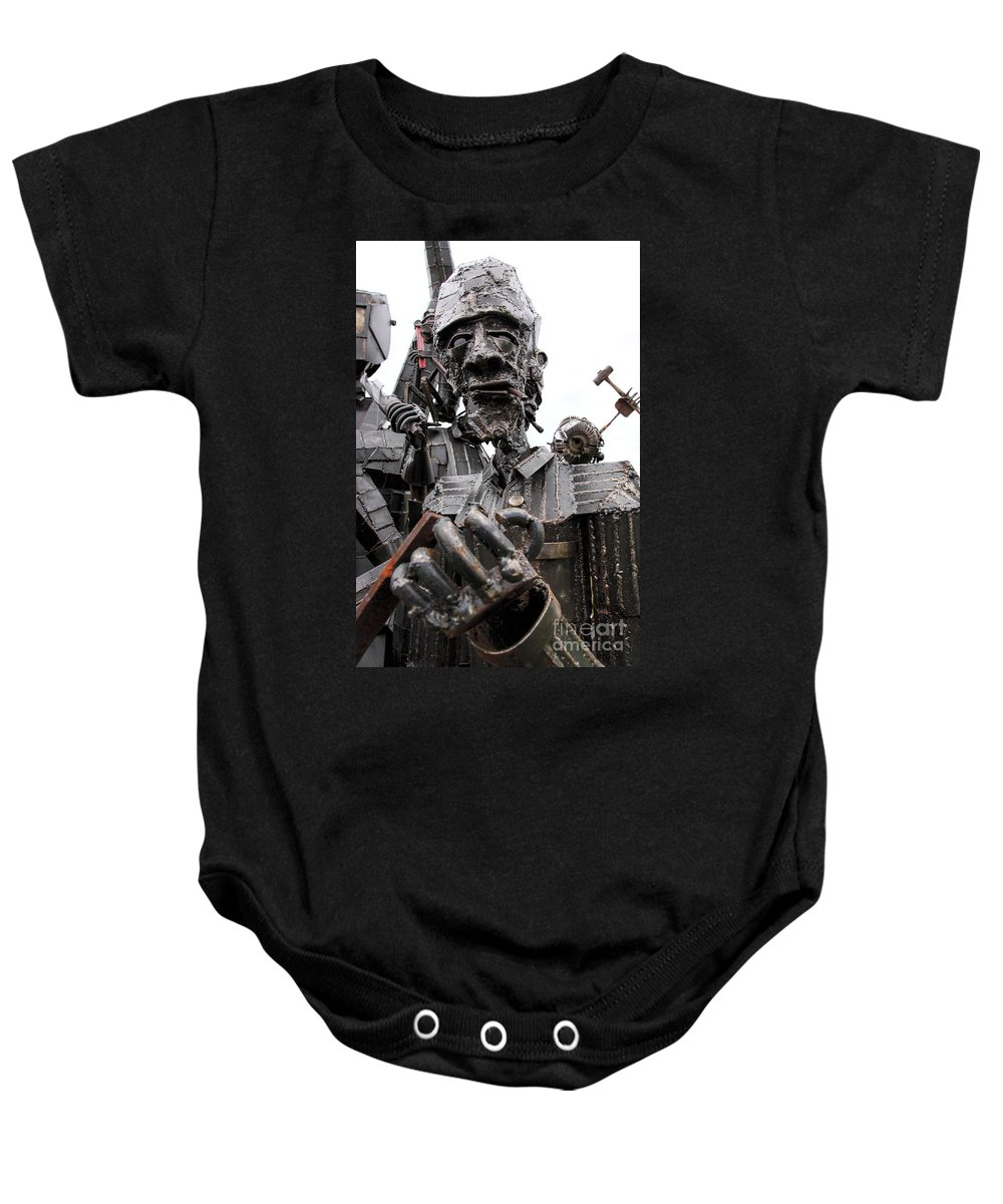 Brakewell Steel Baby Onesie featuring the photograph Ready To Rumble by Rick Kuperberg Sr