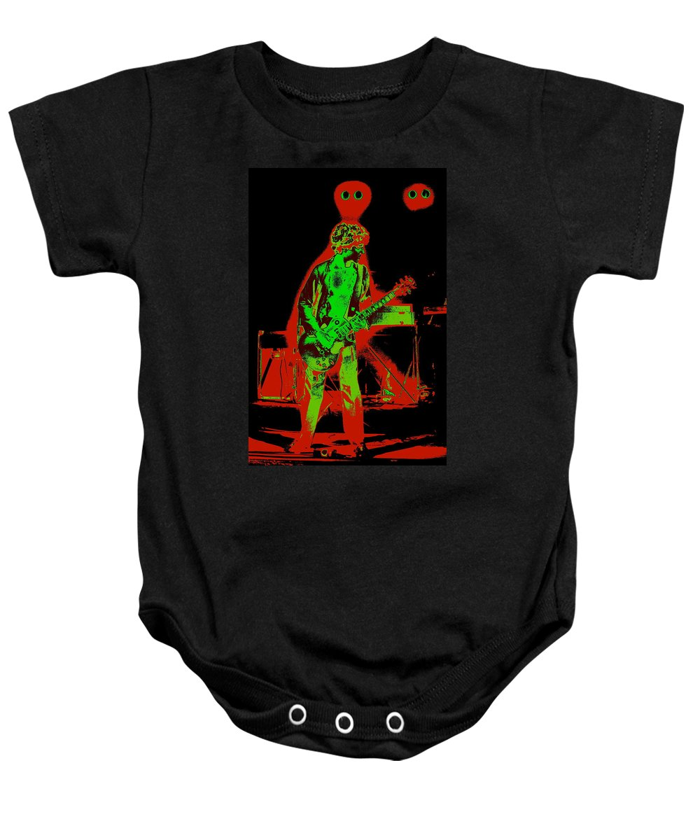 Sammy Hagar Baby Onesie featuring the photograph Red Rocker In Spokane In 1977 With Space Friends by Ben Upham