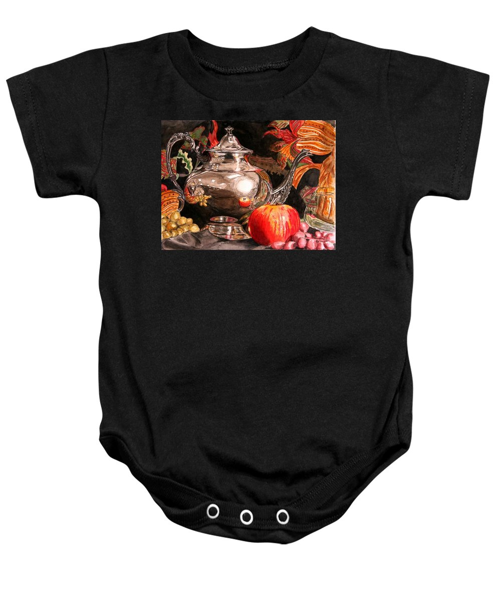 Watercolor Baby Onesie featuring the painting Reflection Study 3 by Lawrence Saunders