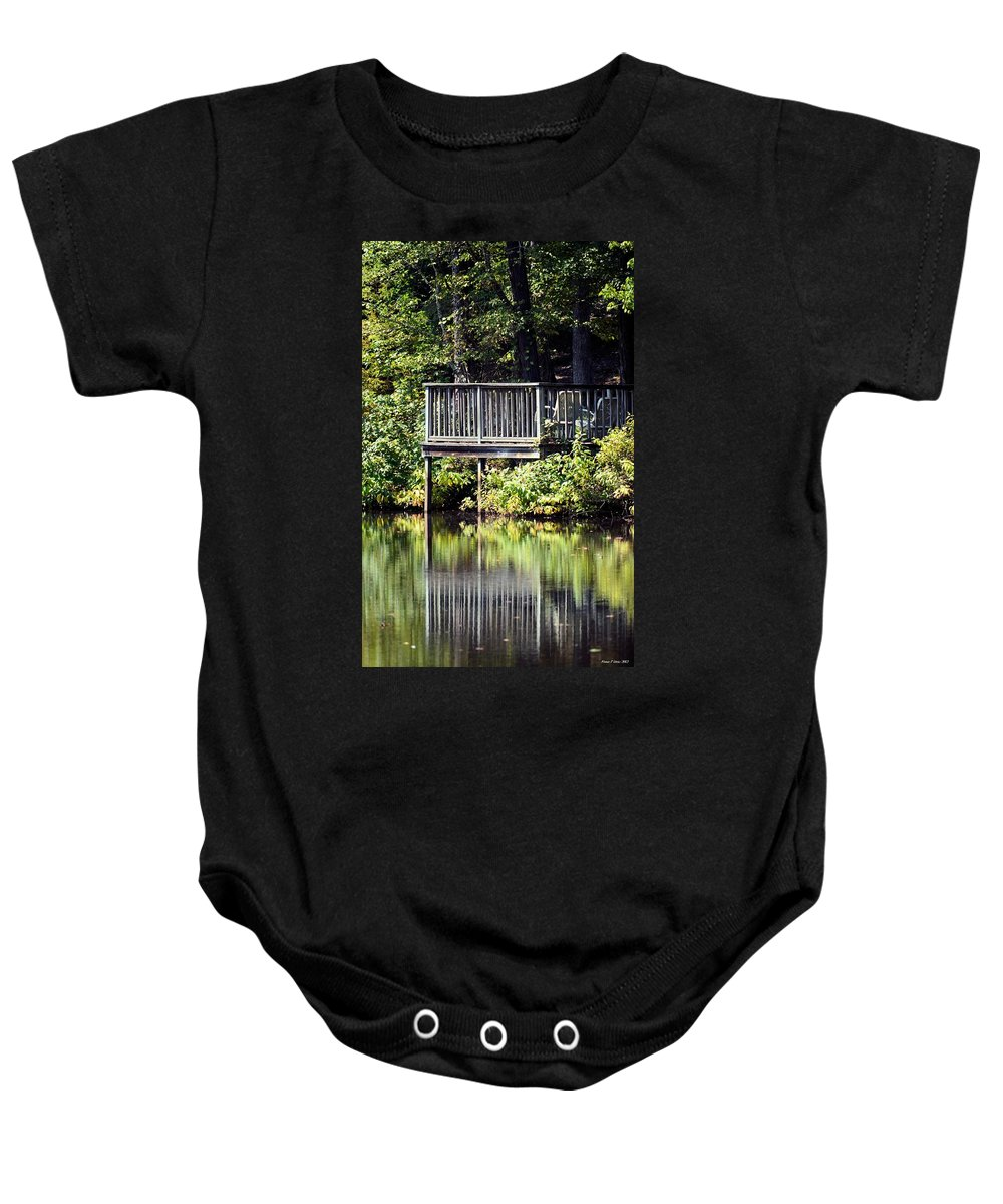 Reflections On A Summer Afternoon Baby Onesie featuring the photograph Reflections On A Summer Afternoon by Maria Urso
