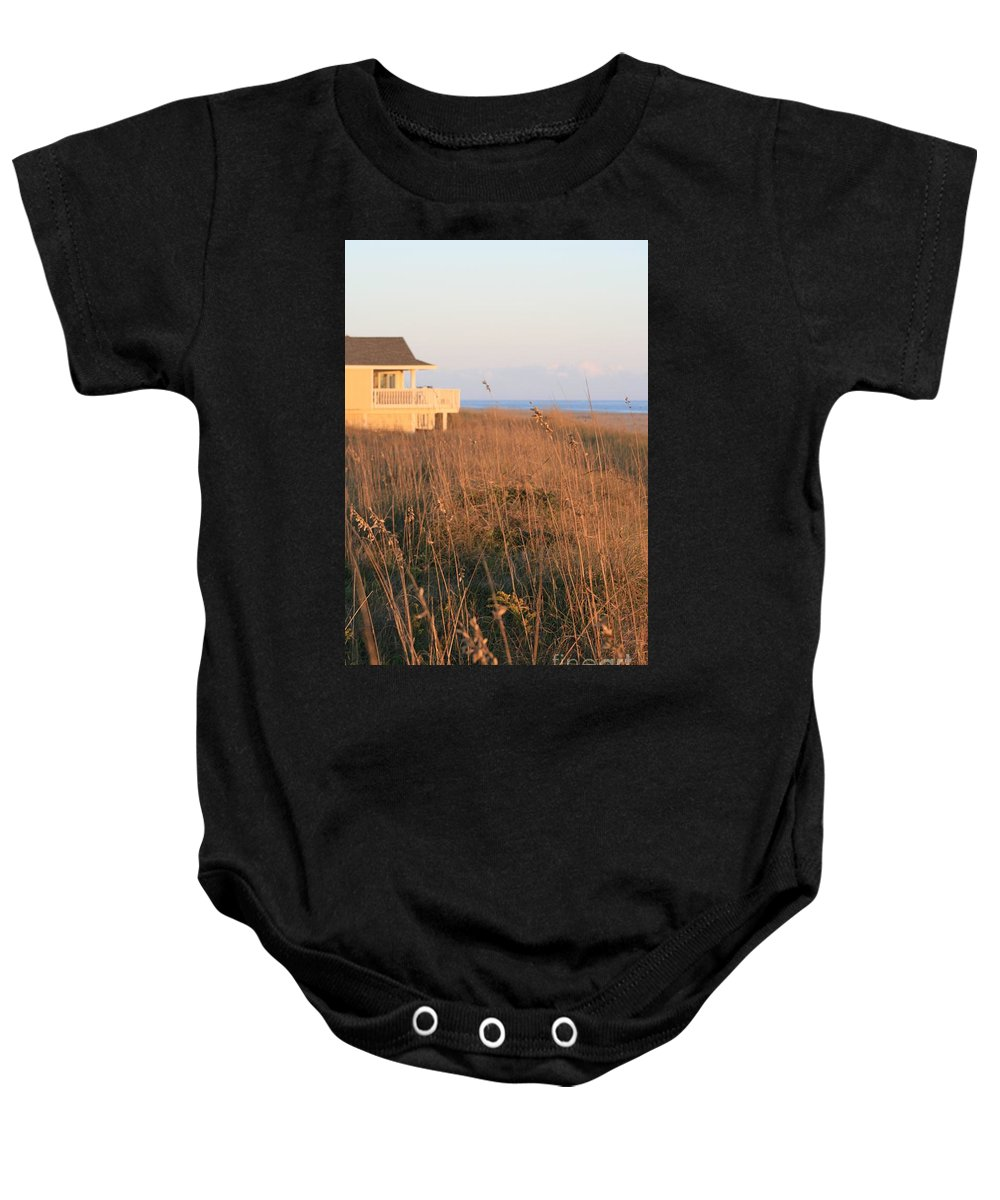 Relaxation Baby Onesie featuring the photograph Relaxation by Nadine Rippelmeyer