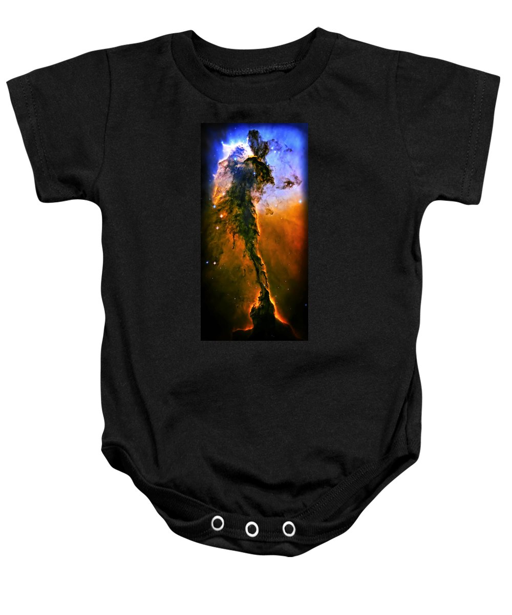 Universe Baby Onesie featuring the photograph Release - Eagle Nebula 3 by Jennifer Rondinelli Reilly - Fine Art Photography