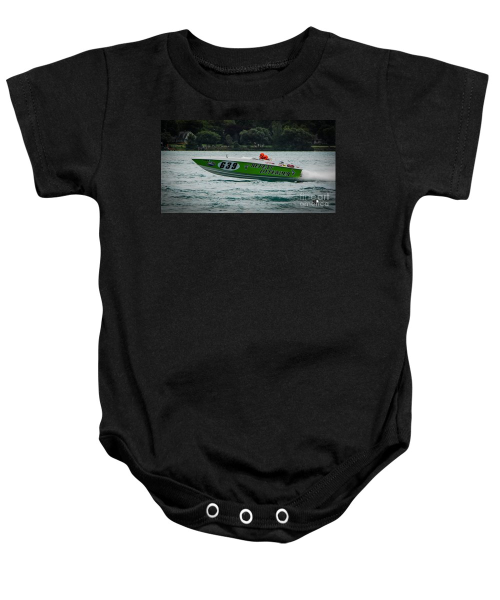Repeat Offender Baby Onesie featuring the photograph Repeat Offender by Grace Grogan