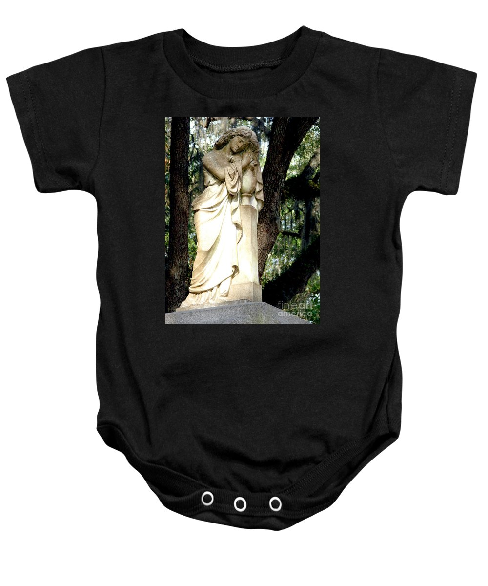 Statue Baby Onesie featuring the photograph Restful Guardian by Leara Nicole Morris-Clark