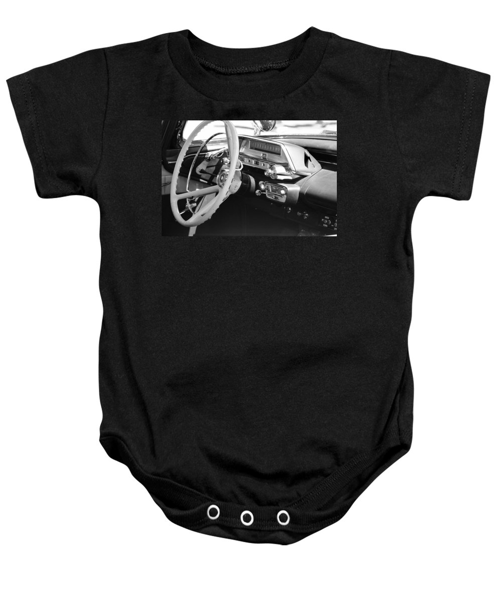 Police Dash Baby Onesie featuring the photograph Retro Police Dash by Tikvah's Hope