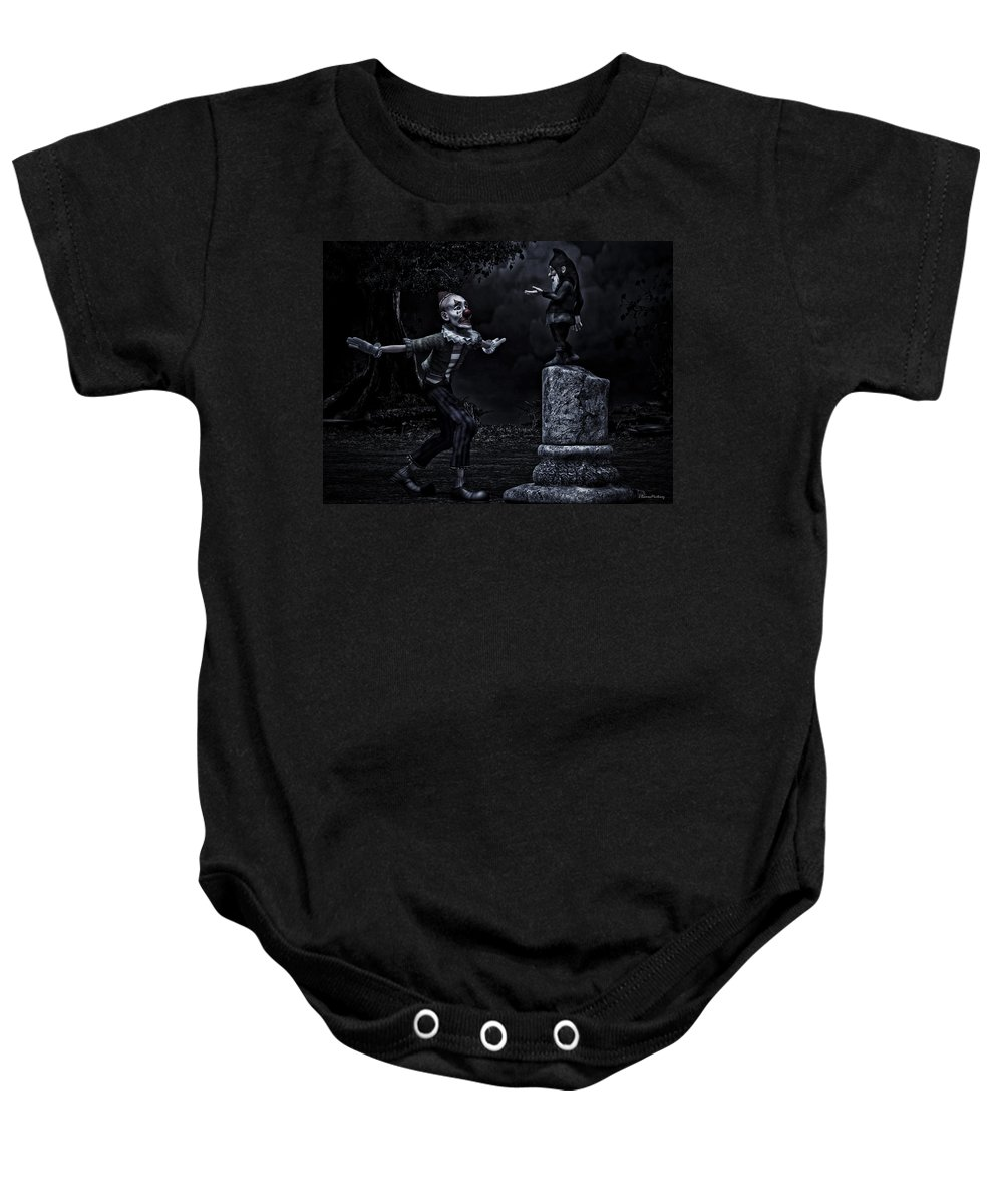 Fantasy Baby Onesie featuring the digital art Reverence by Ramon Martinez