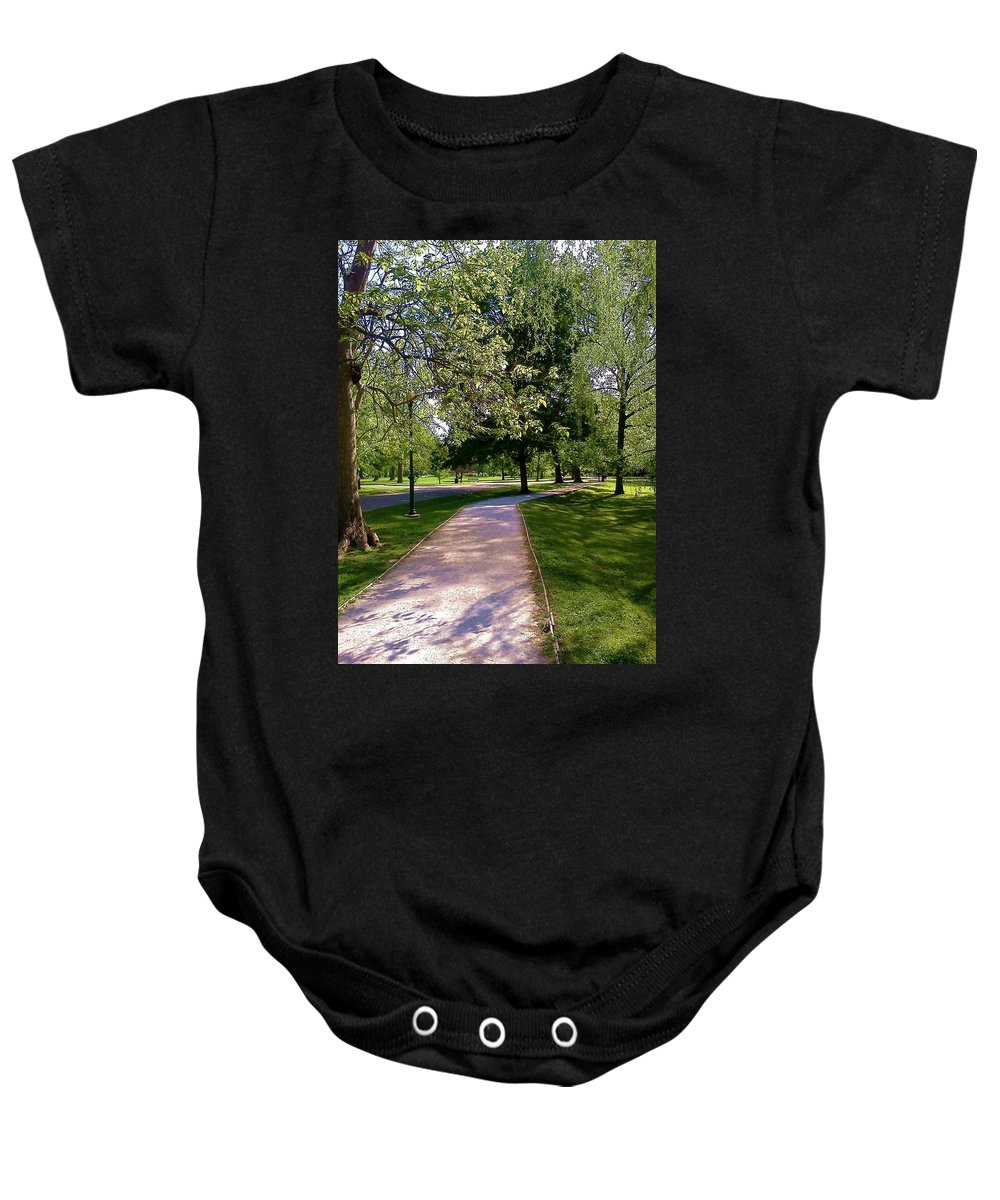 Trees Baby Onesie featuring the photograph Ritter Park Paths by Christy Saunders Church