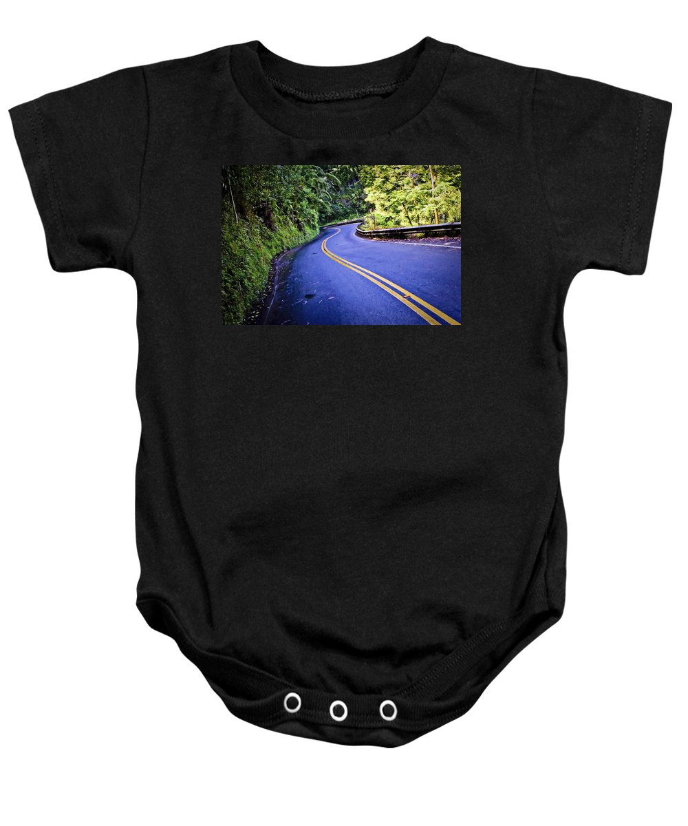 3scape Baby Onesie featuring the photograph Road To Hana by Adam Romanowicz