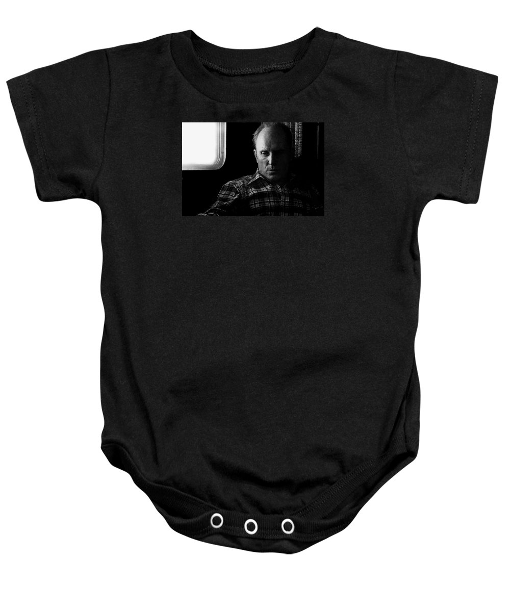 Robert Duvall Pursuit Of Db Cooper Tucson Arizona 1980 Trie Grit John Wayne Henry Hathaway Baby Onesie featuring the photograph Robert Duvall Pursuit Of Db Cooper Tucson Arizona 1980-2009 by David Lee Guss