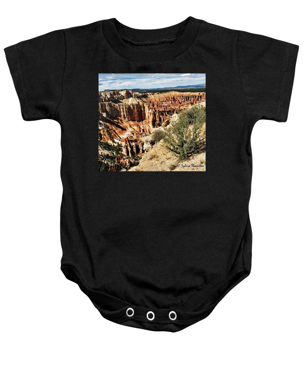 Bryce Park Baby Onesie featuring the photograph Rolling In The Deep by Sylvia Thornton