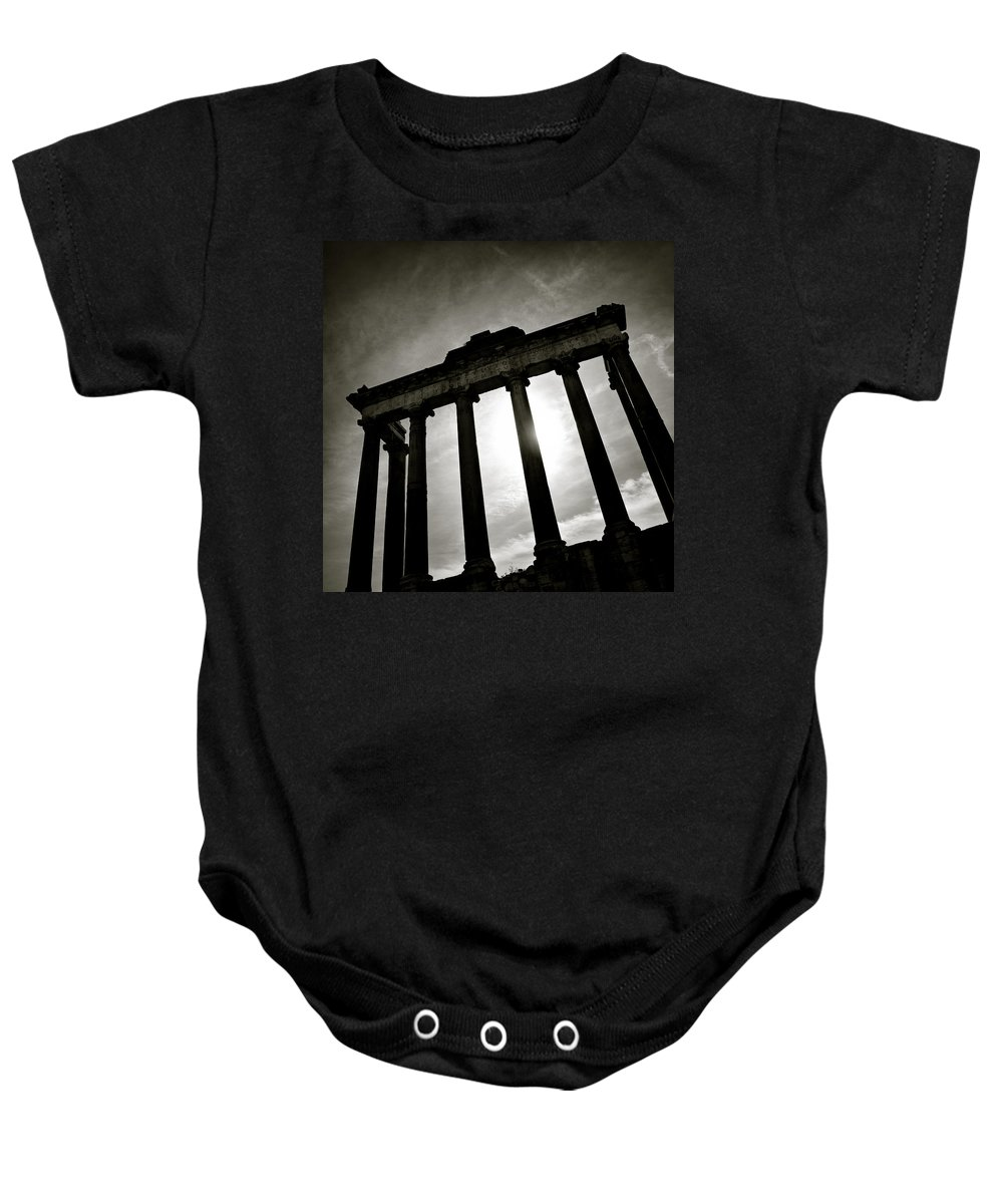 Roman Forum Baby Onesie featuring the photograph Roman Forum by Dave Bowman