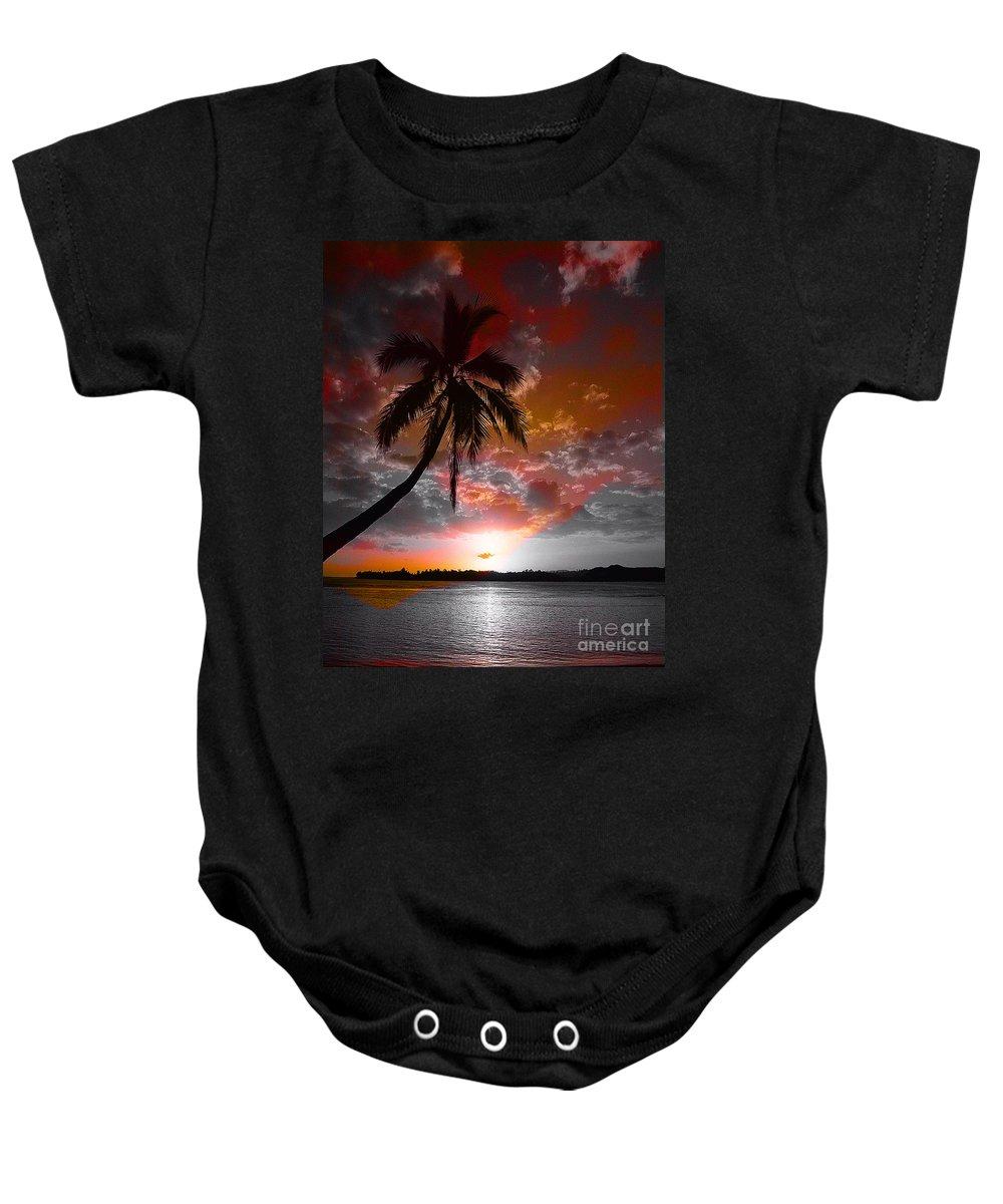 Palm Tree Image Baby Onesie featuring the digital art Romance II by Yael VanGruber