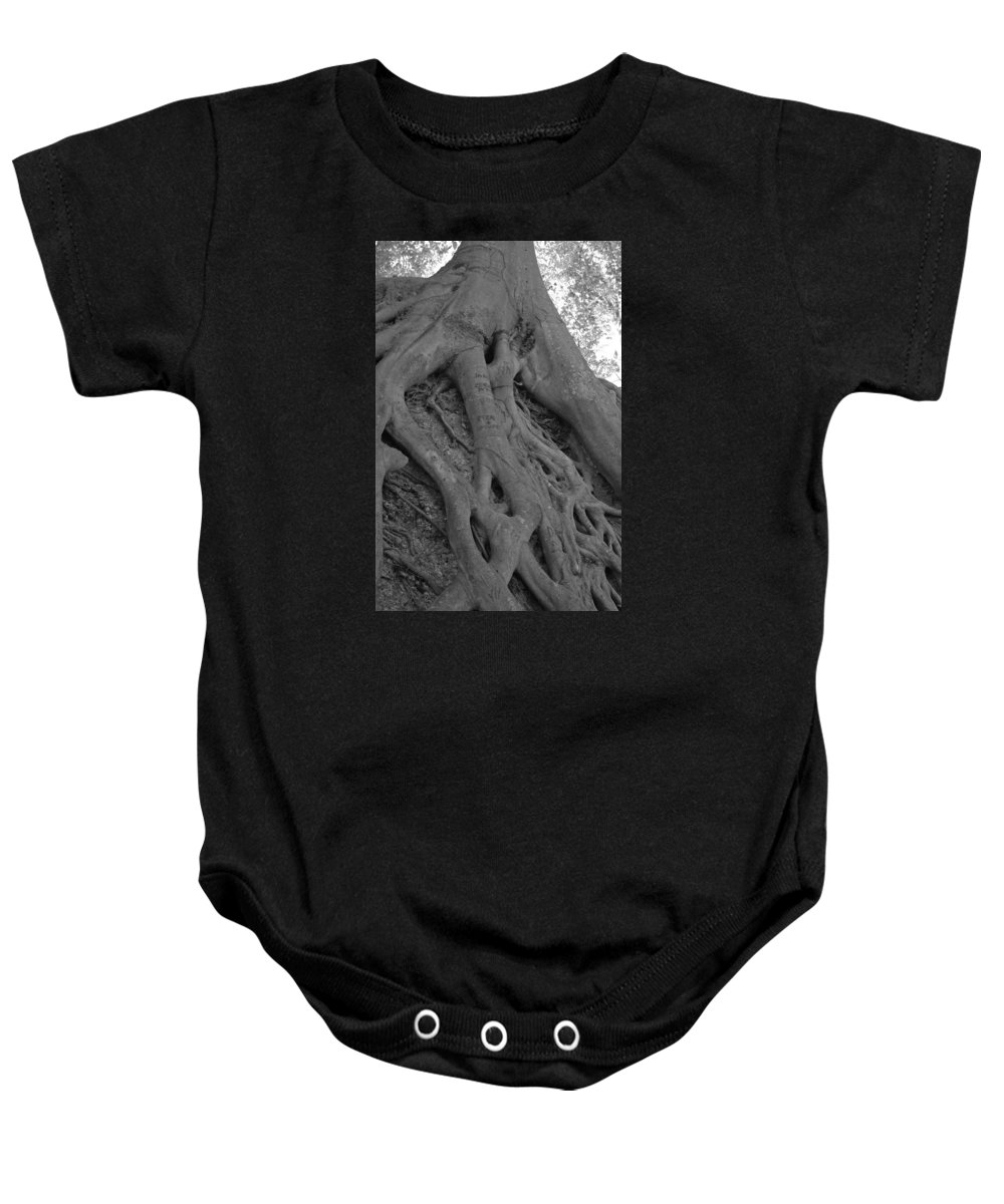 Tree Baby Onesie featuring the photograph Roots II by Suzanne Gaff