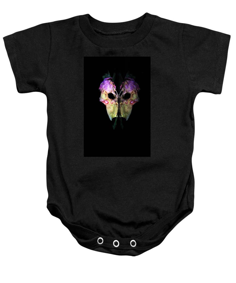 Rose Baby Onesie featuring the photograph Rose 118 by Dawn Marshall