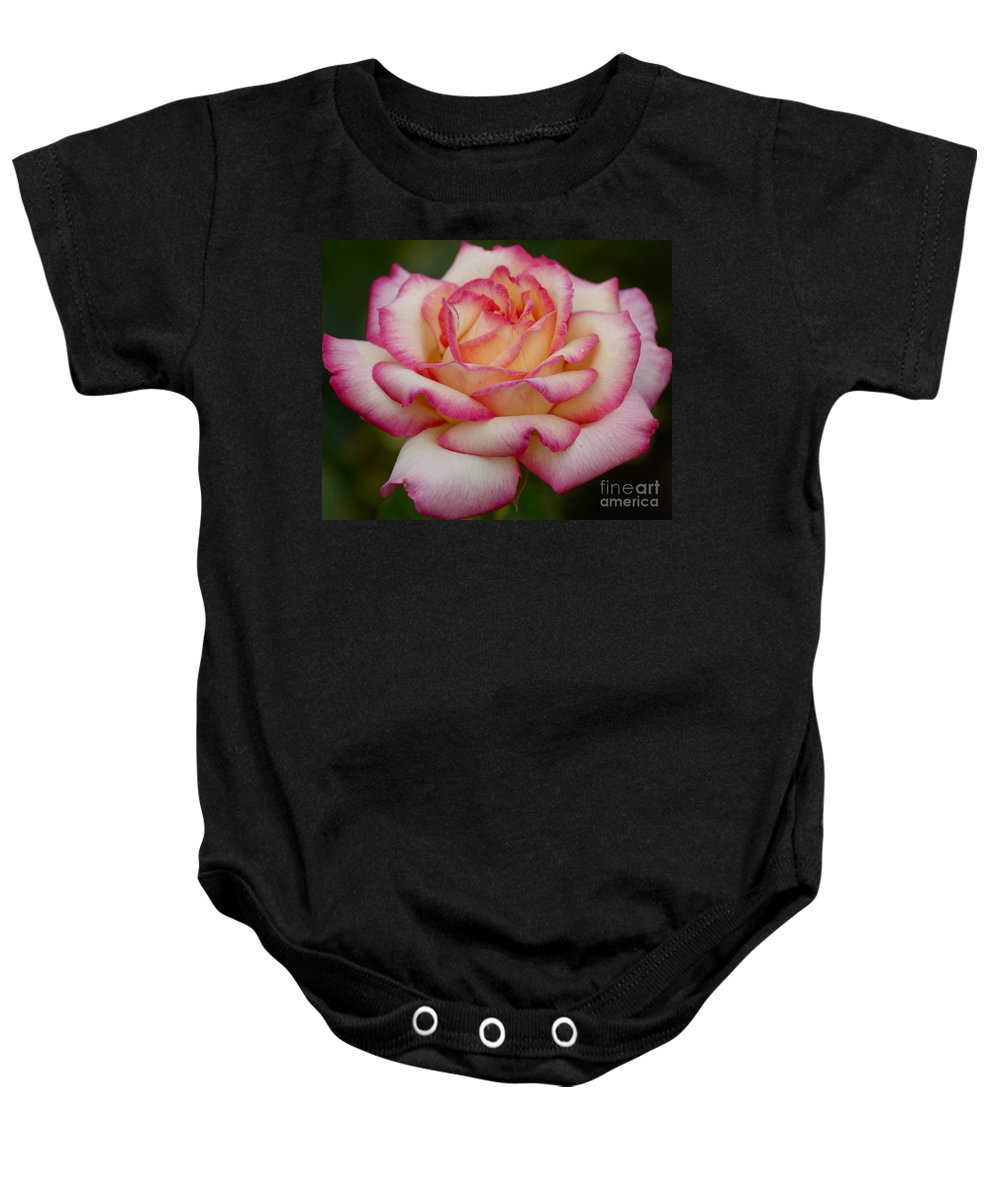 Rose Baby Onesie featuring the photograph Rose Beauty by Debby Pueschel