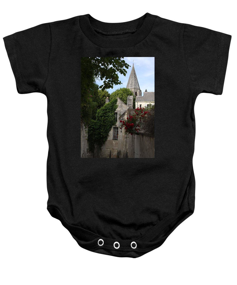 Narrow Street Baby Onesie featuring the photograph Rose Lane In Loches by Christiane Schulze Art And Photography
