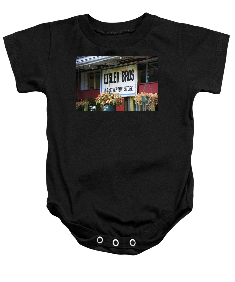 66 Baby Onesie featuring the photograph Route 66 - Eisler Brothers Old Riverton Store by Frank Romeo