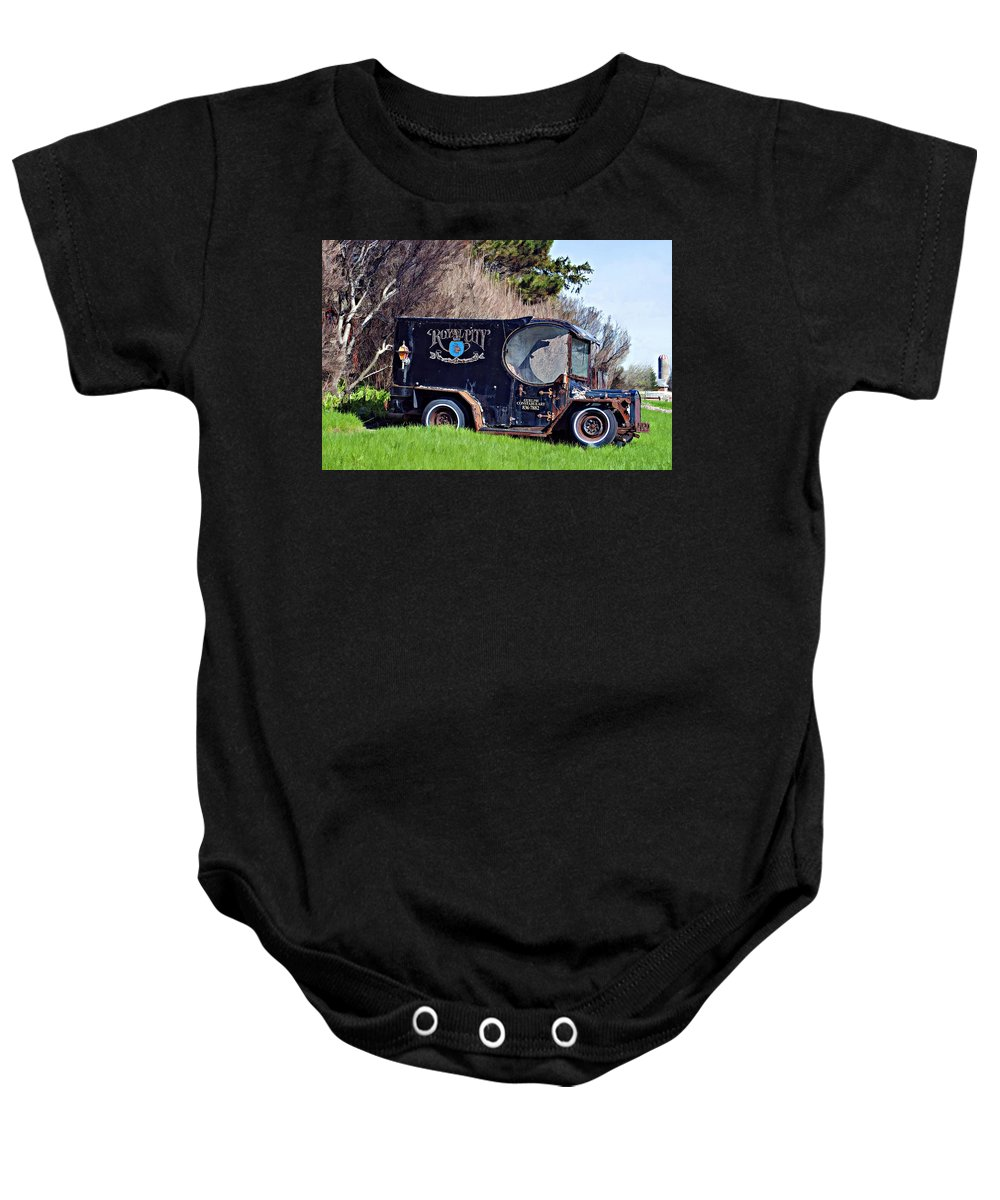 Paddy Wagon Baby Onesie featuring the photograph Royal City Paddy Wagon by Steve Harrington