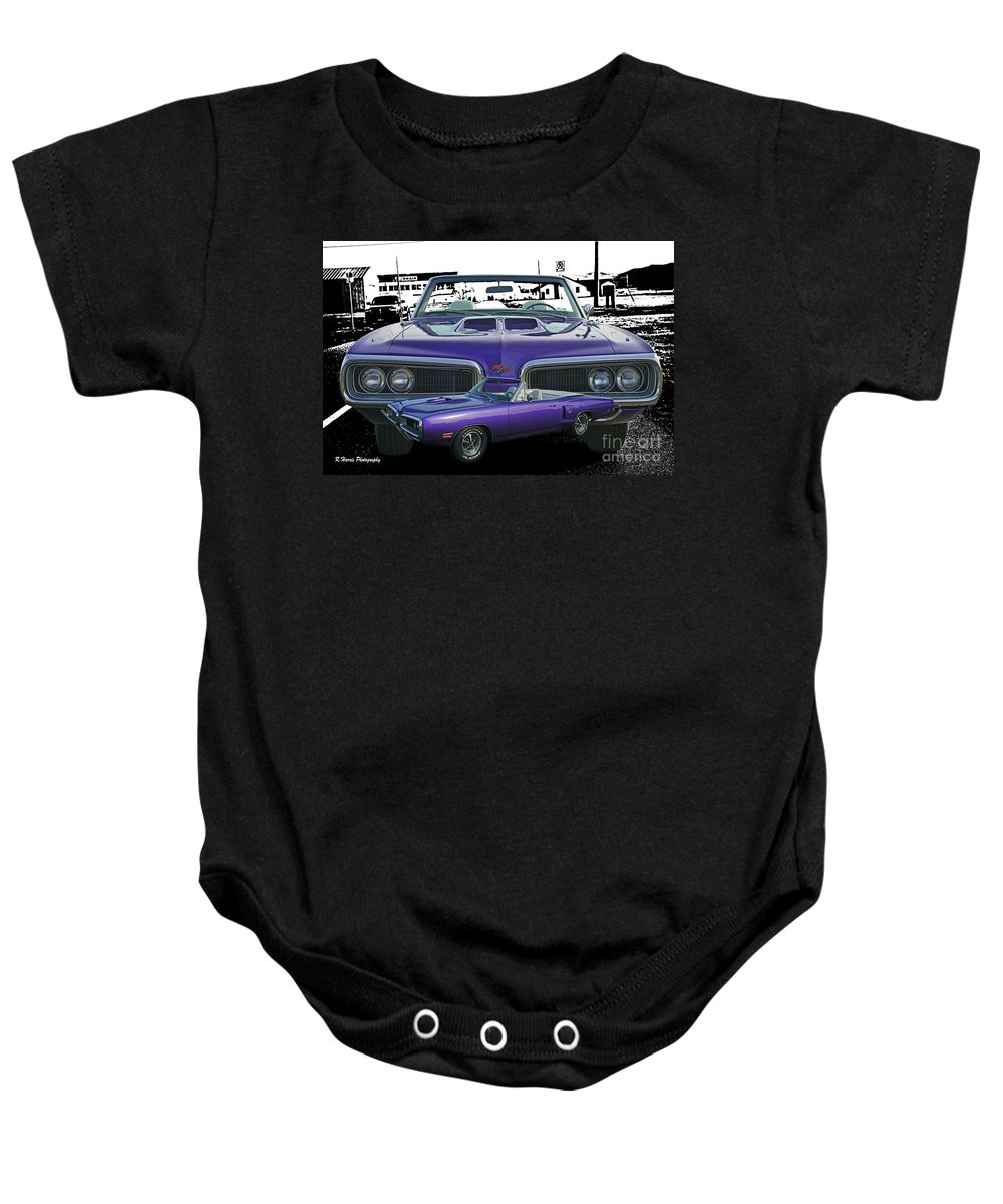 Cars Baby Onesie featuring the photograph Rt Double Exposure With Bw Background by Randy Harris