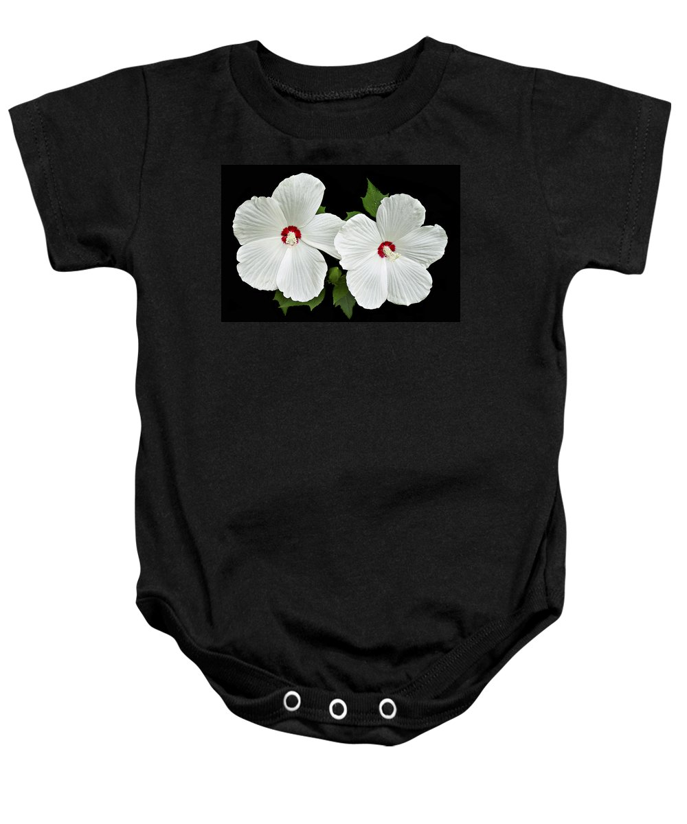 Floral Baby Onesie featuring the photograph Ruby Dot Hibiscus by Marcia Colelli