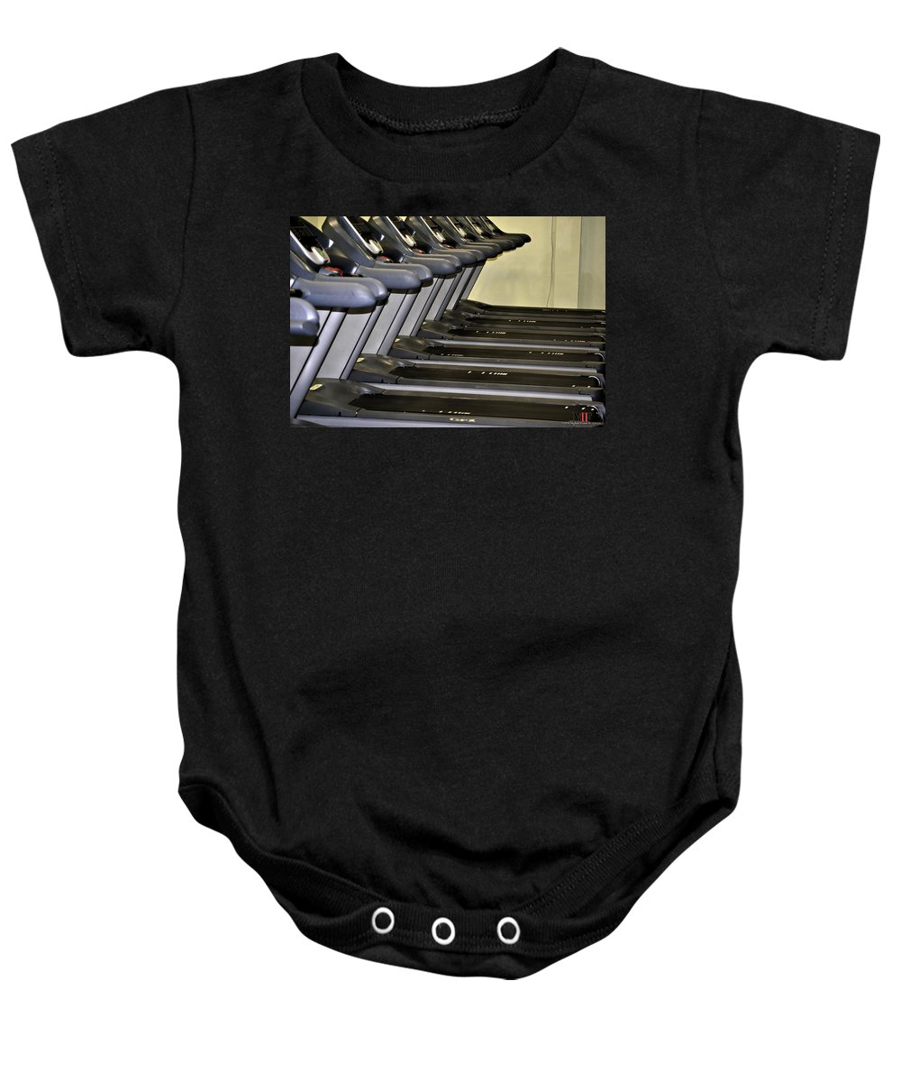 Michael Frank Jr Baby Onesie featuring the photograph Runners High by Michael Frank Jr