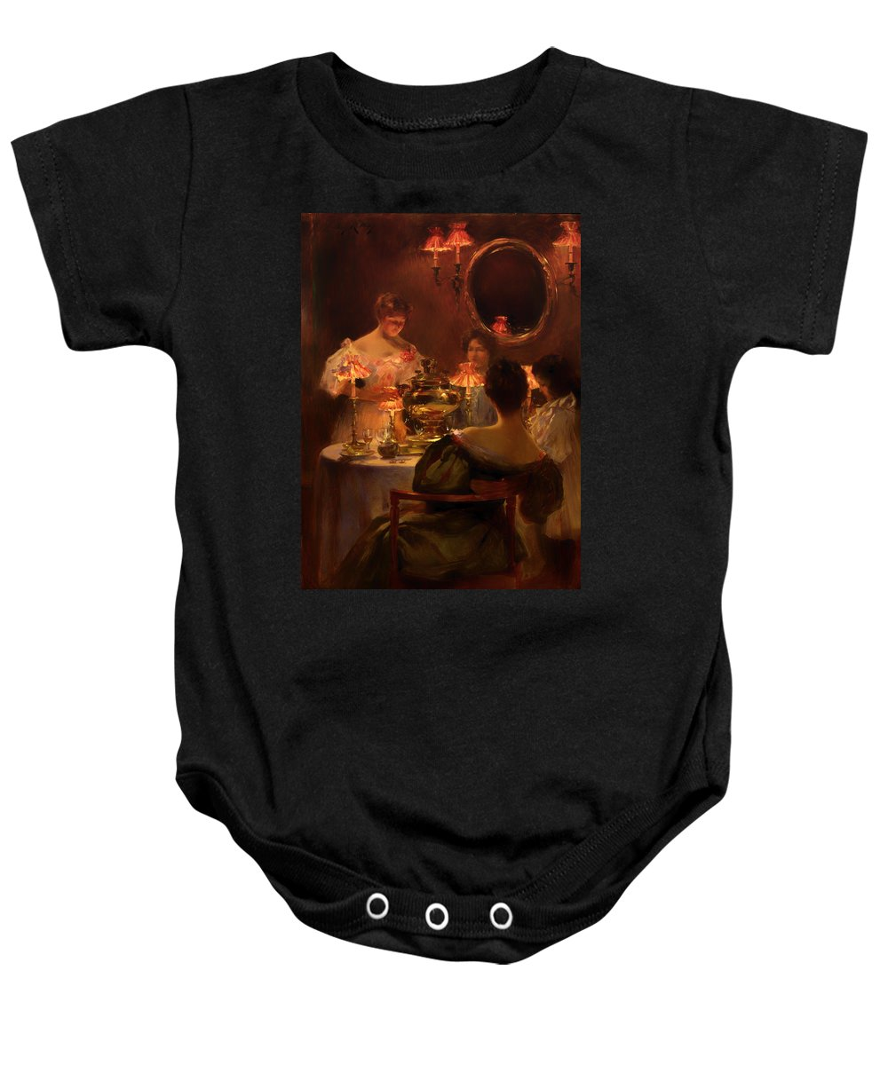 Painting Baby Onesie featuring the painting Russian Tea by Mountain Dreams