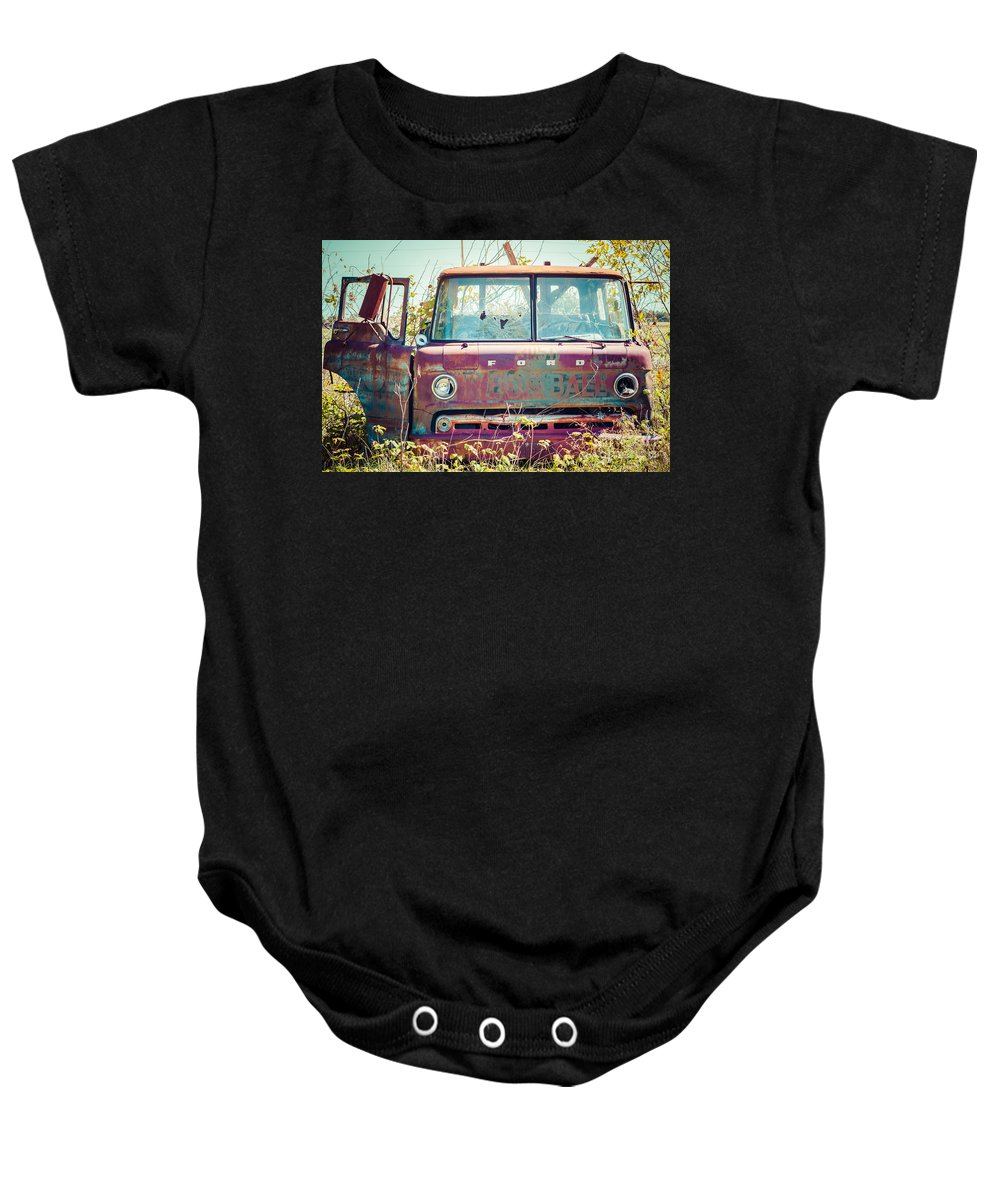 Ford Baby Onesie featuring the photograph Rusted Truck by Ashley M Conger