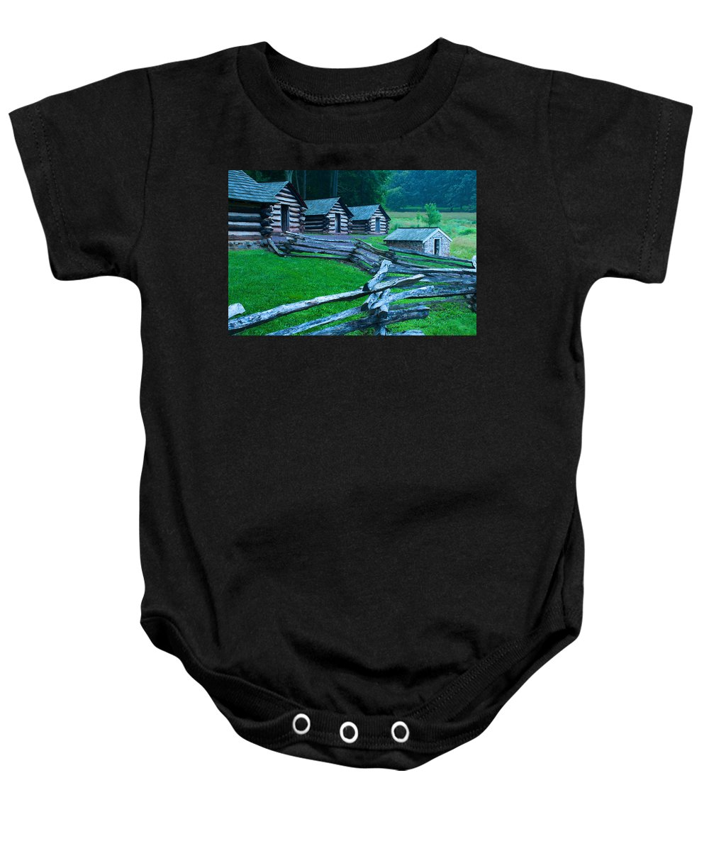 Rustic Baby Onesie featuring the photograph Rustic Life by Michael Porchik