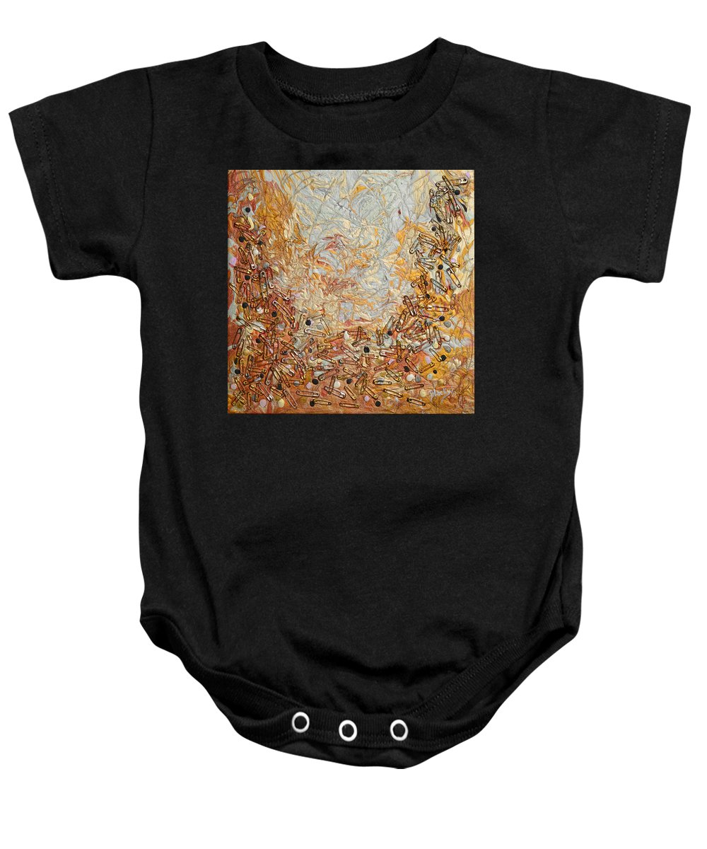 Safety Baby Onesie featuring the mixed media Safety Zone by Donna Blackhall