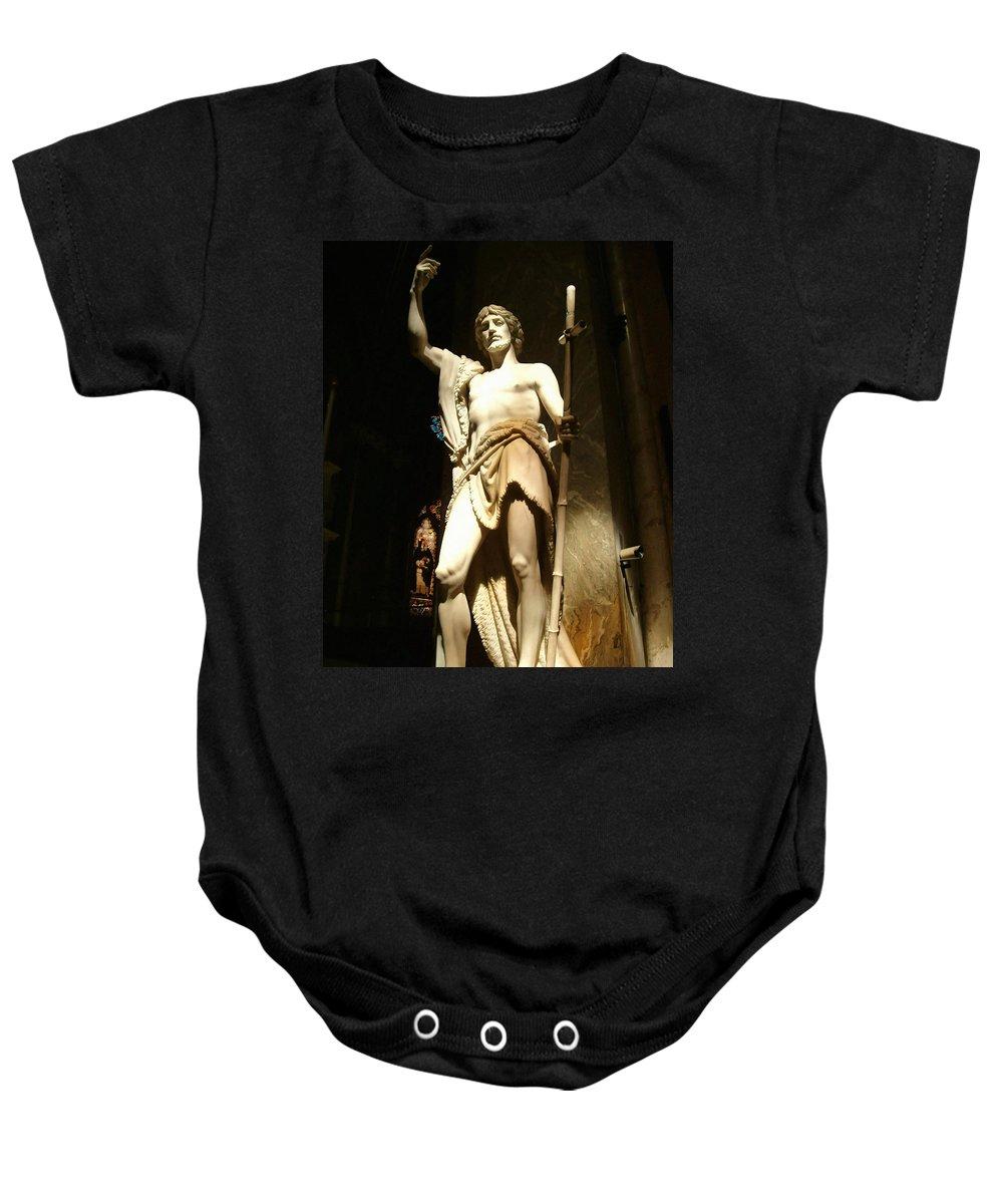 Saint John The Baptist Baby Onesie featuring the photograph Saint John The Baptist by Ellen Henneke