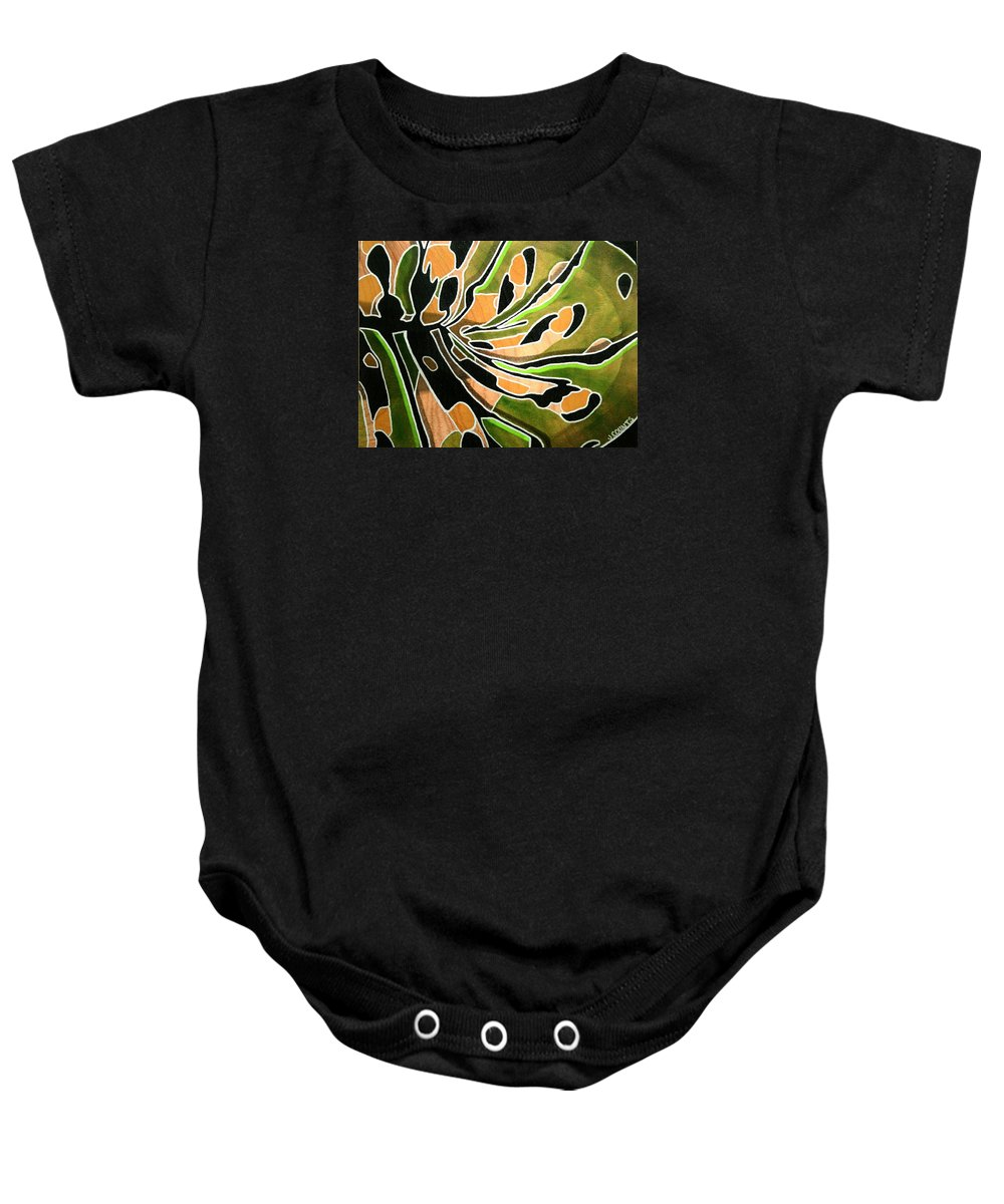 Butterfly Baby Onesie featuring the painting Saint Papilio Polyxenes Study by Jennifer Counts