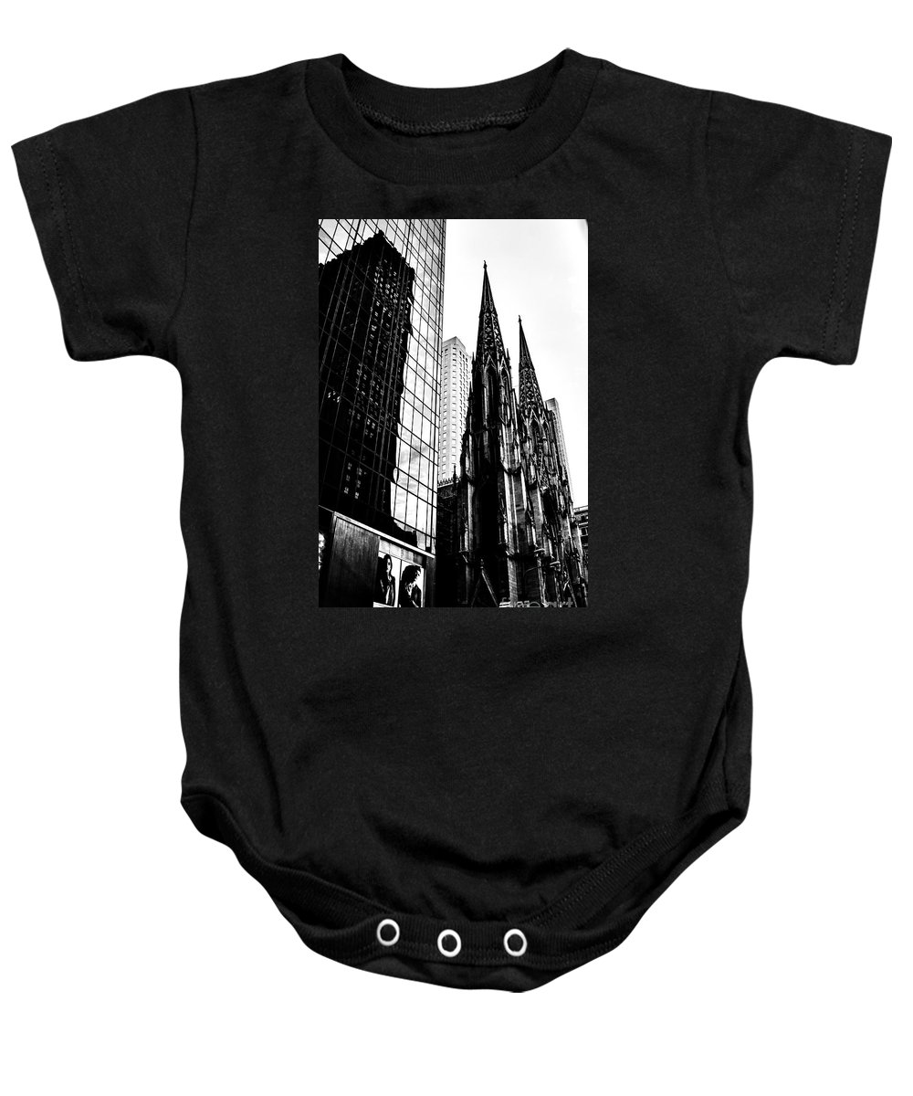 Streets Of New York Baby Onesie featuring the photograph Salvation Among Giants by Digital Kulprits