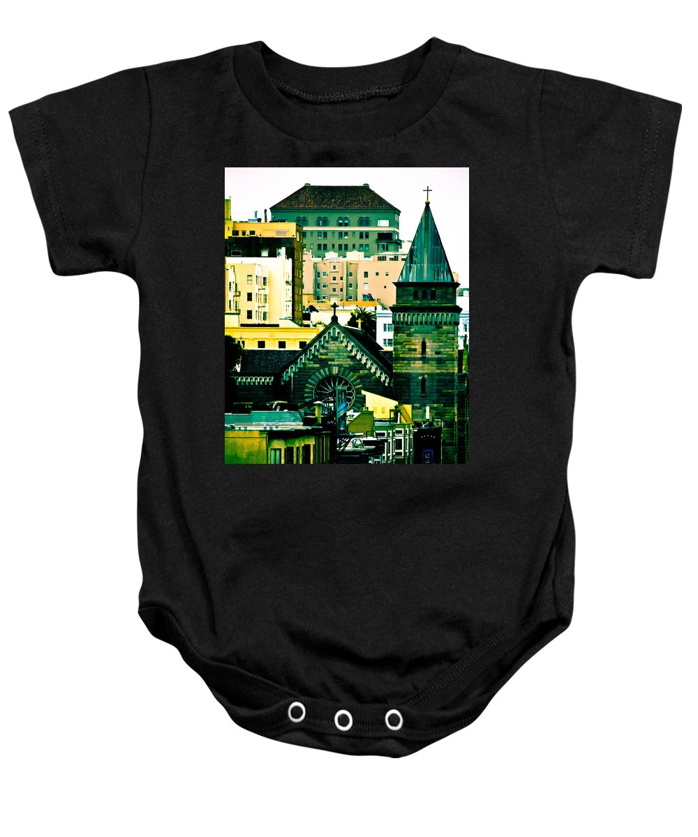 Salvation Baby Onesie featuring the photograph Salvation's Not Lost by Digital Kulprits