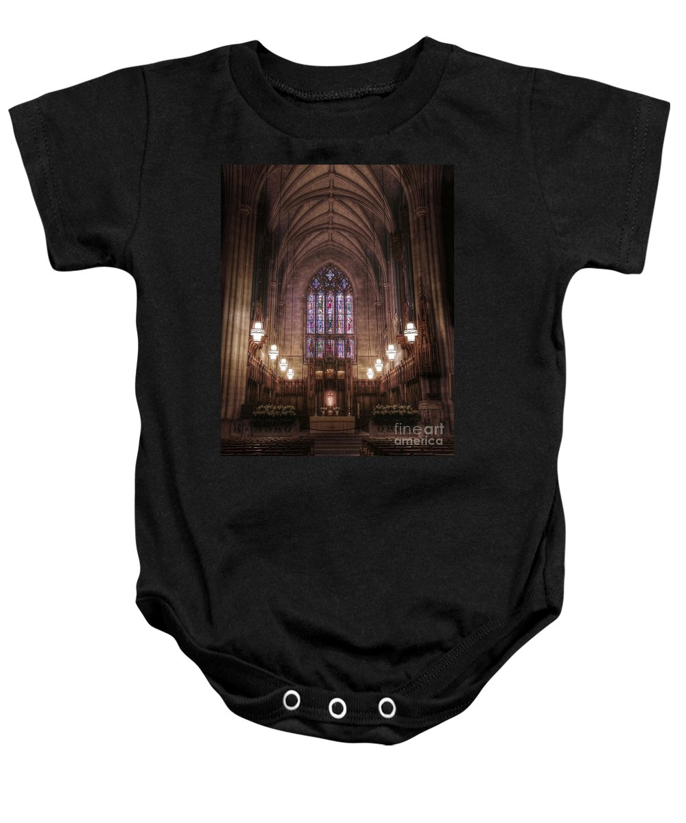 Duke University Baby Onesie featuring the photograph Sanctuary by Emily Kay