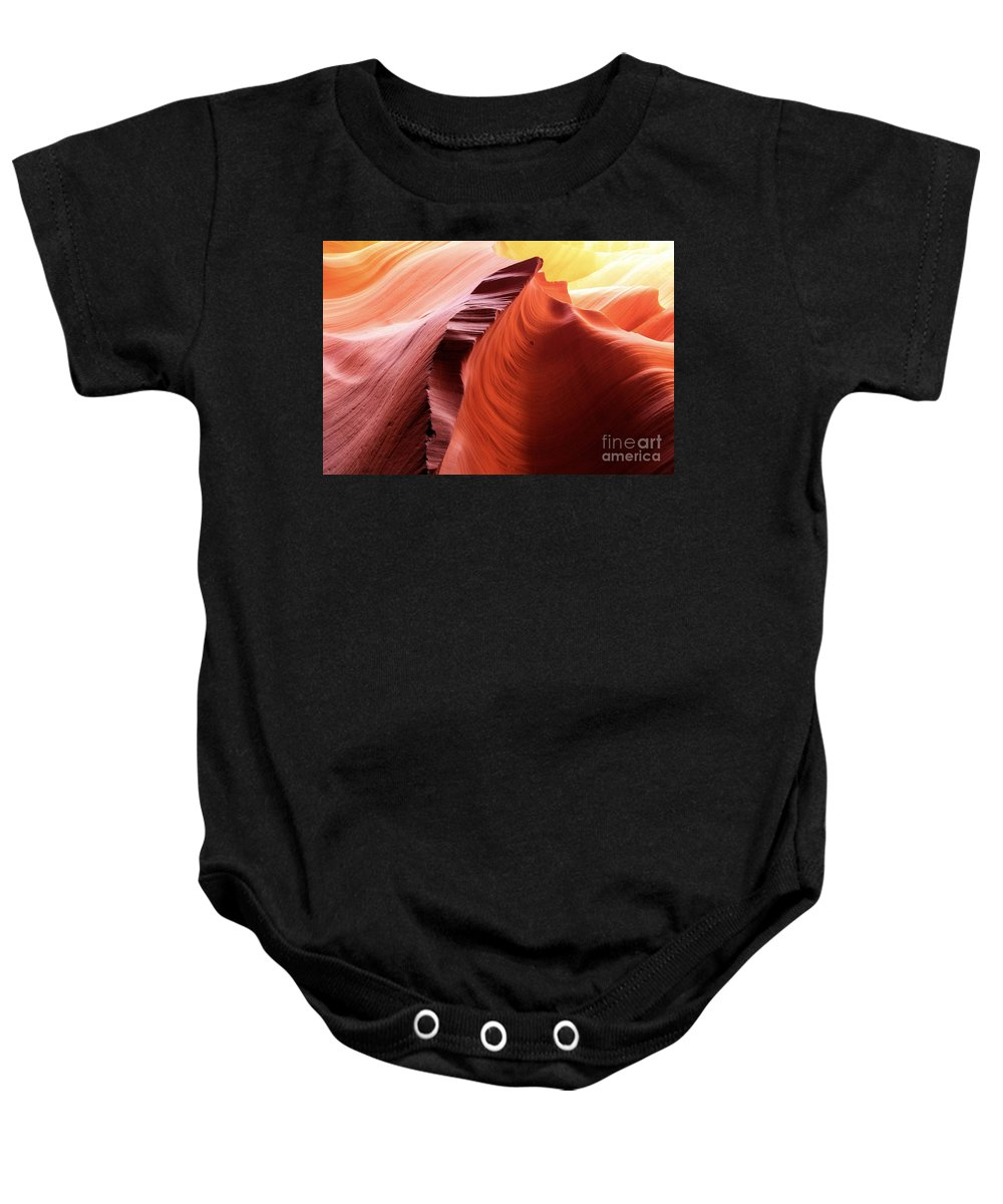 Arizona Slot Canyon Baby Onesie featuring the photograph Sandstone Spectacular by Adam Jewell