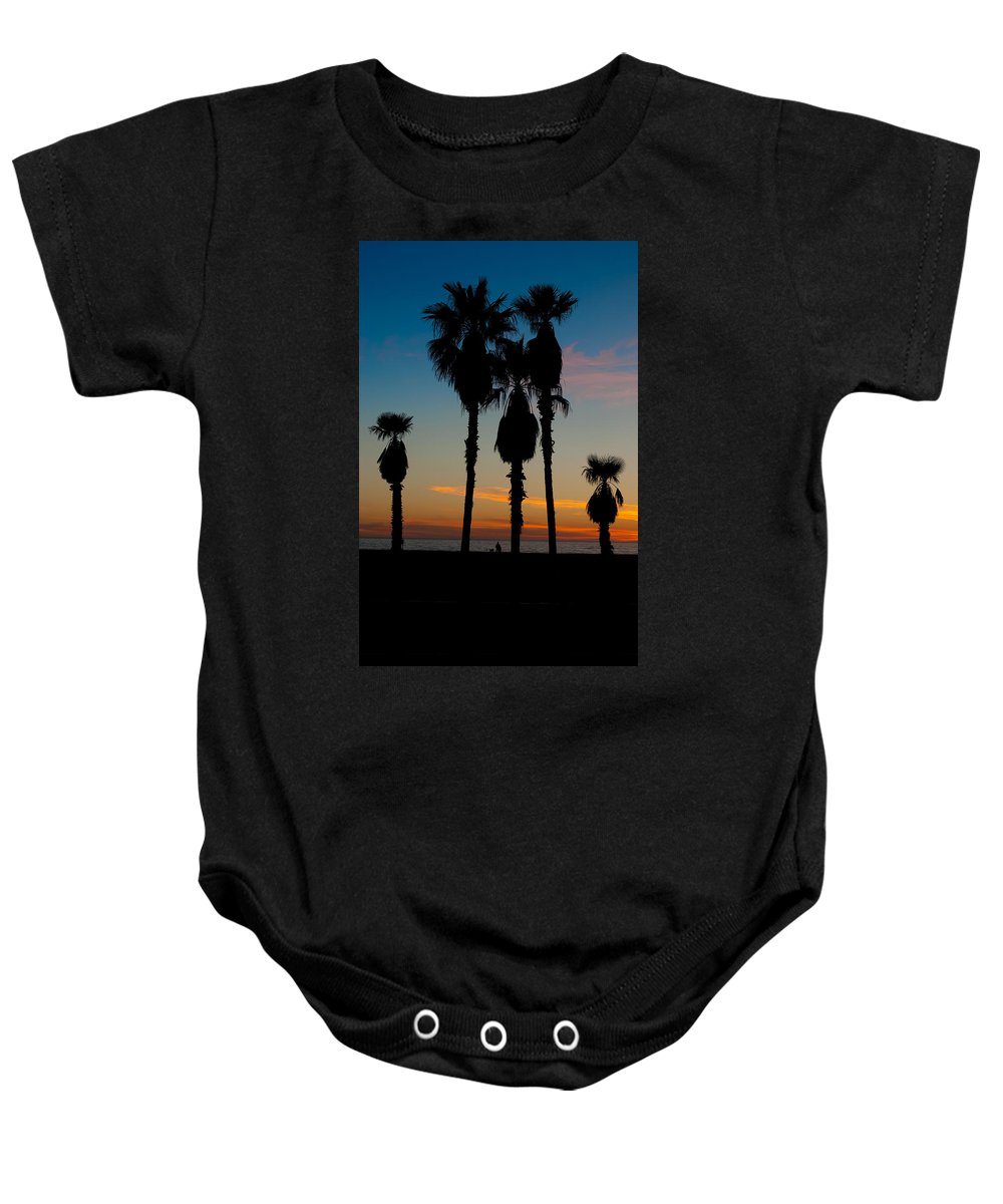 Waiting Room Baby Onesie featuring the photograph Santa Monica Sunset by David Smith