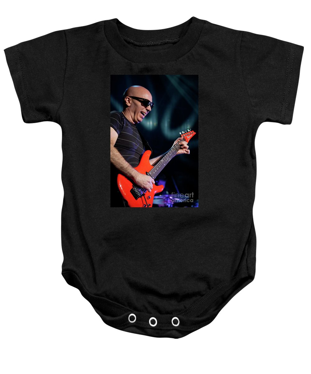 Joe Satriani Baby Onesie featuring the photograph Satriani 3342 by Timothy Bischoff