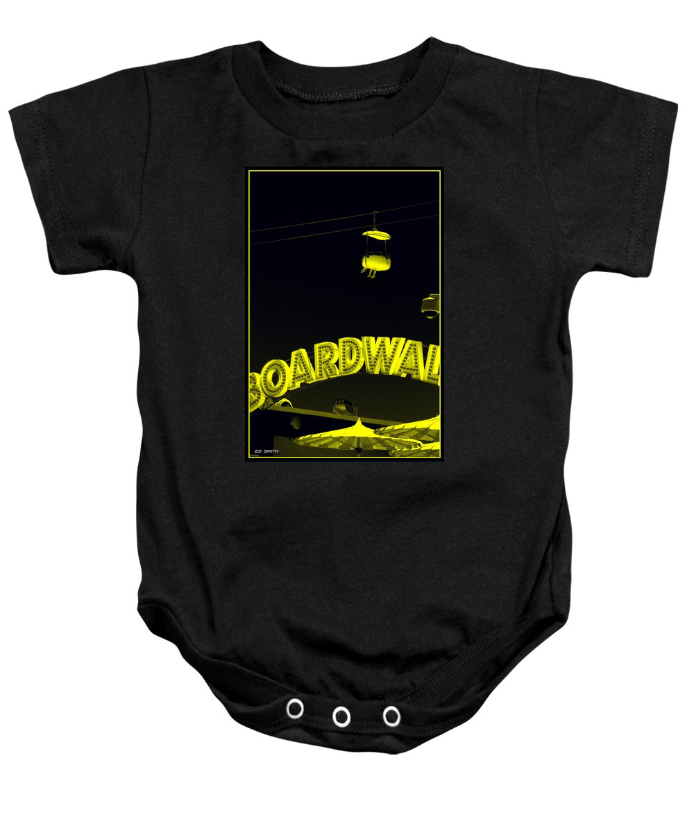 Saucer Baby Onesie featuring the photograph Saucer by Ed Smith