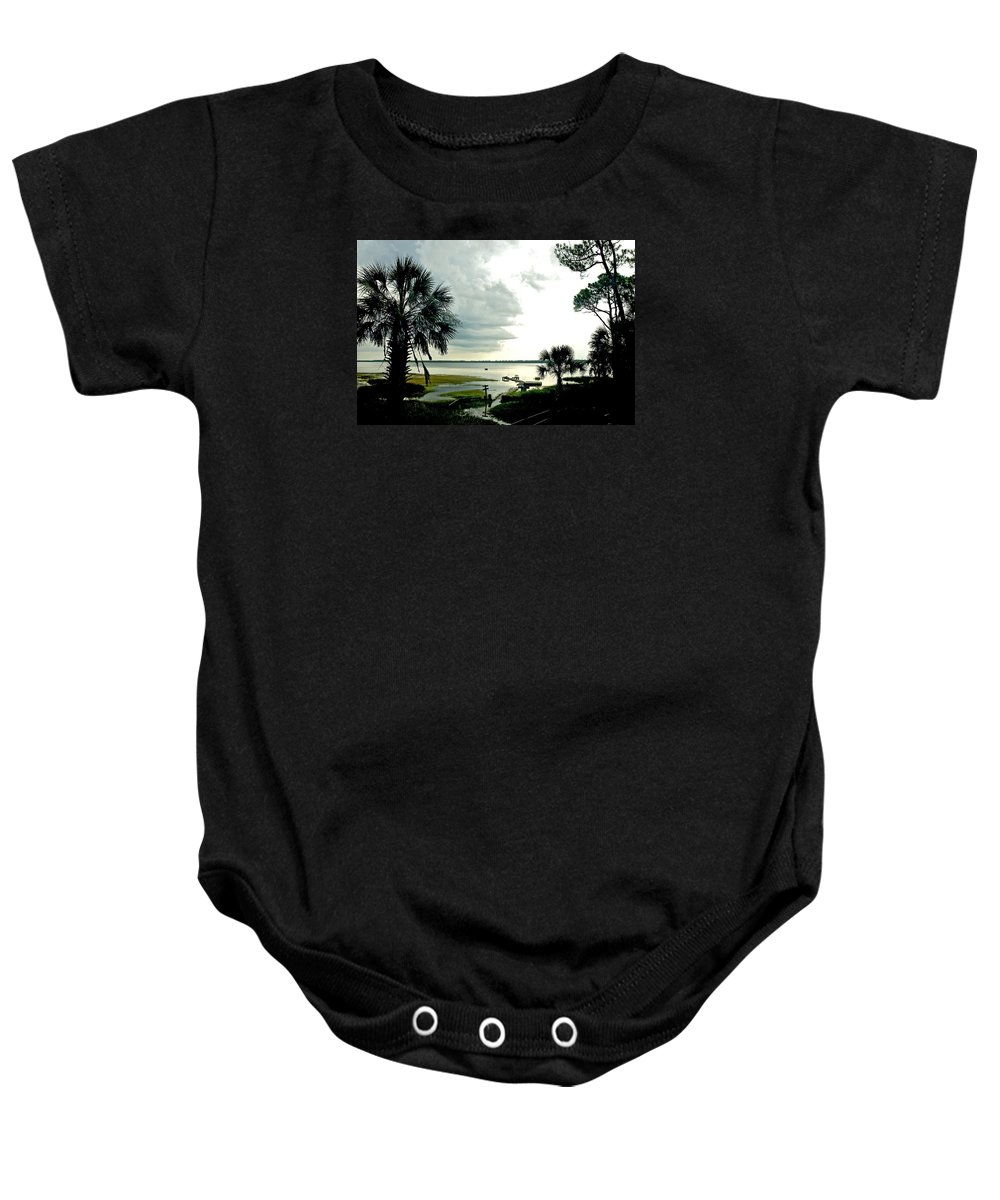 Seascape Baby Onesie featuring the photograph Scallop Waters by Norman Johnson