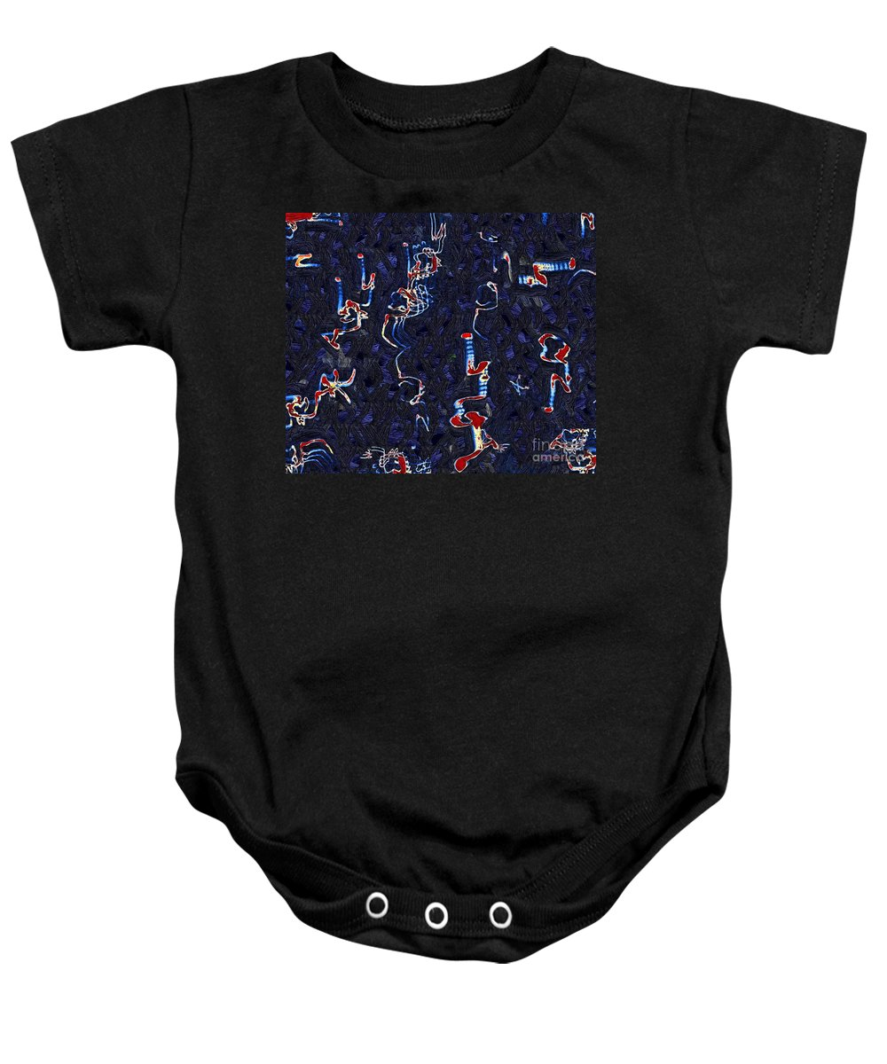 Abstract Baby Onesie featuring the painting Scattered Thoughts by RC DeWinter