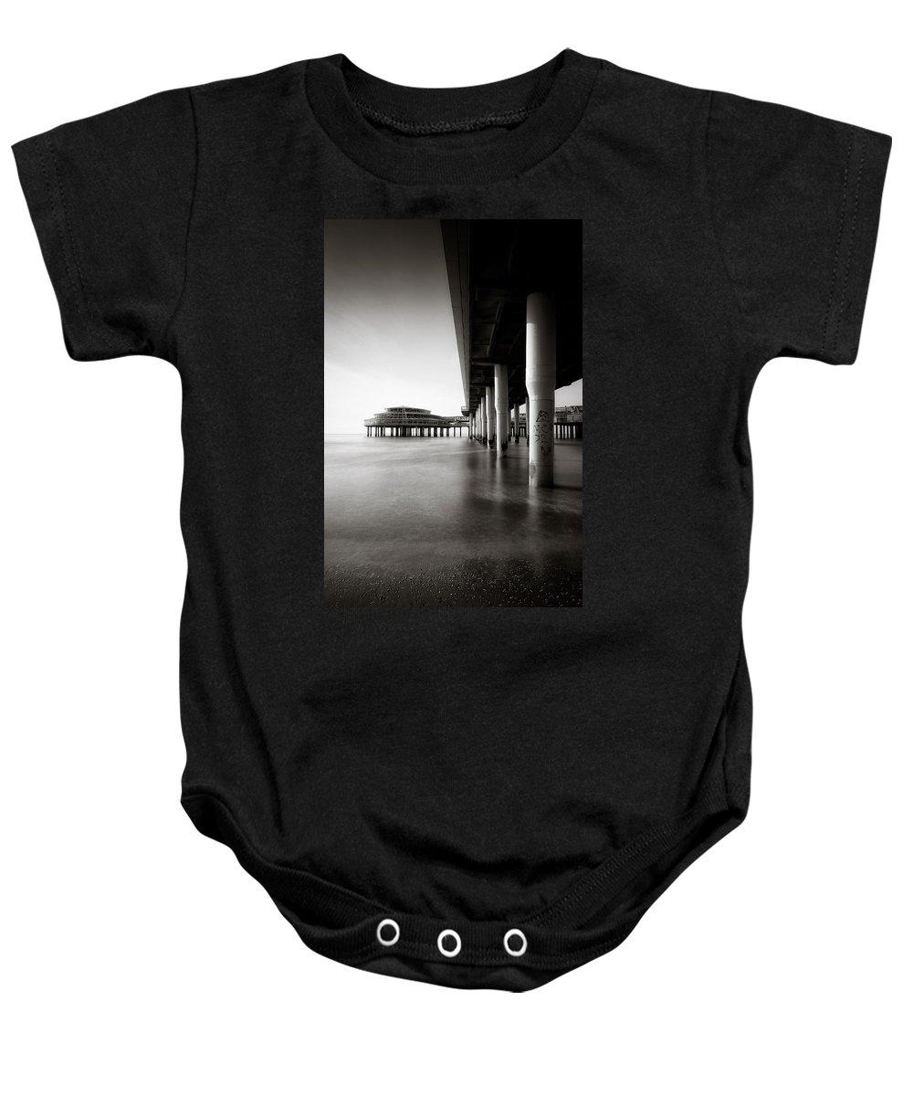 Pier Baby Onesie featuring the photograph Scheveningen Pier 2 by Dave Bowman