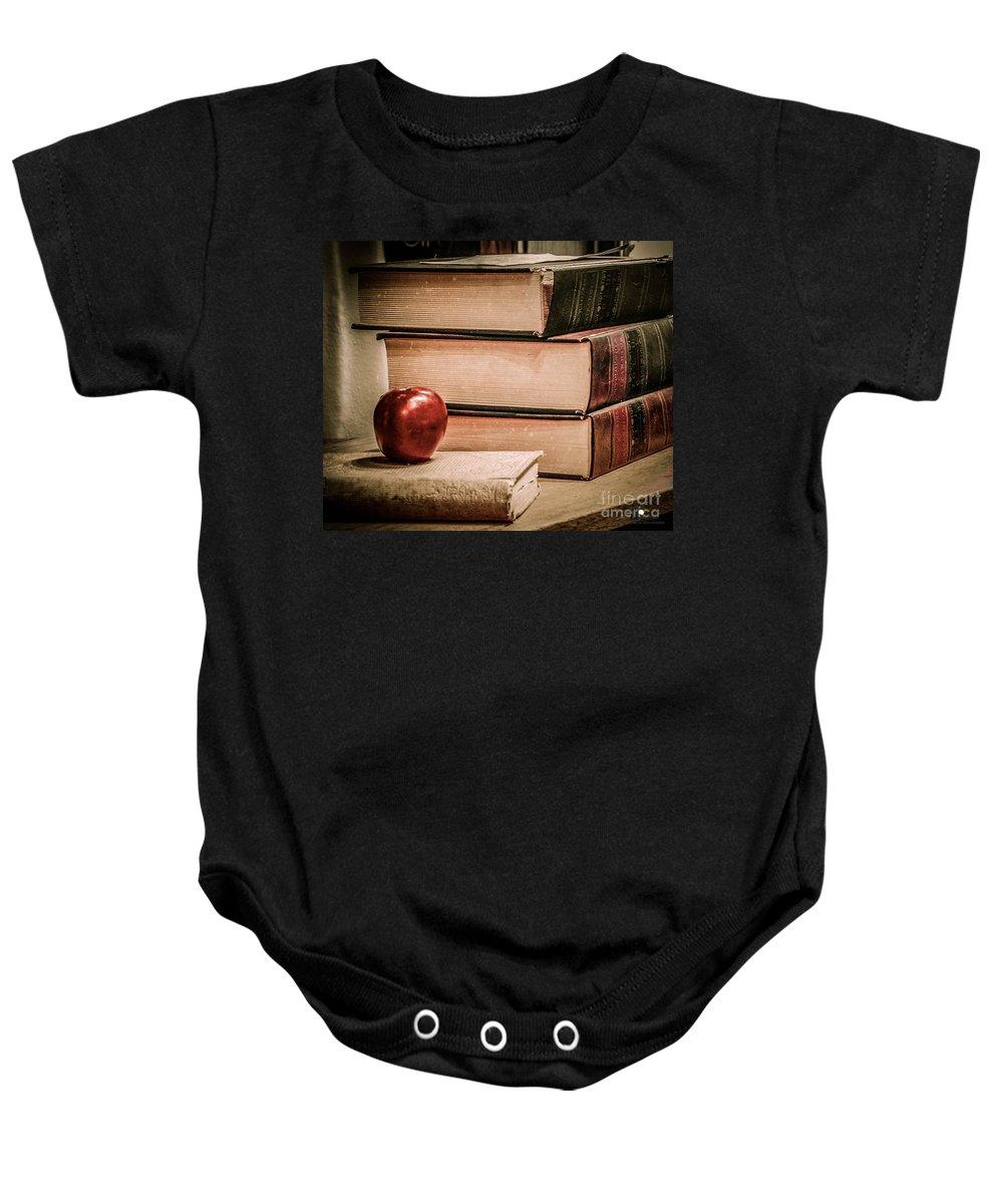 School Baby Onesie featuring the photograph School Books by Grace Grogan