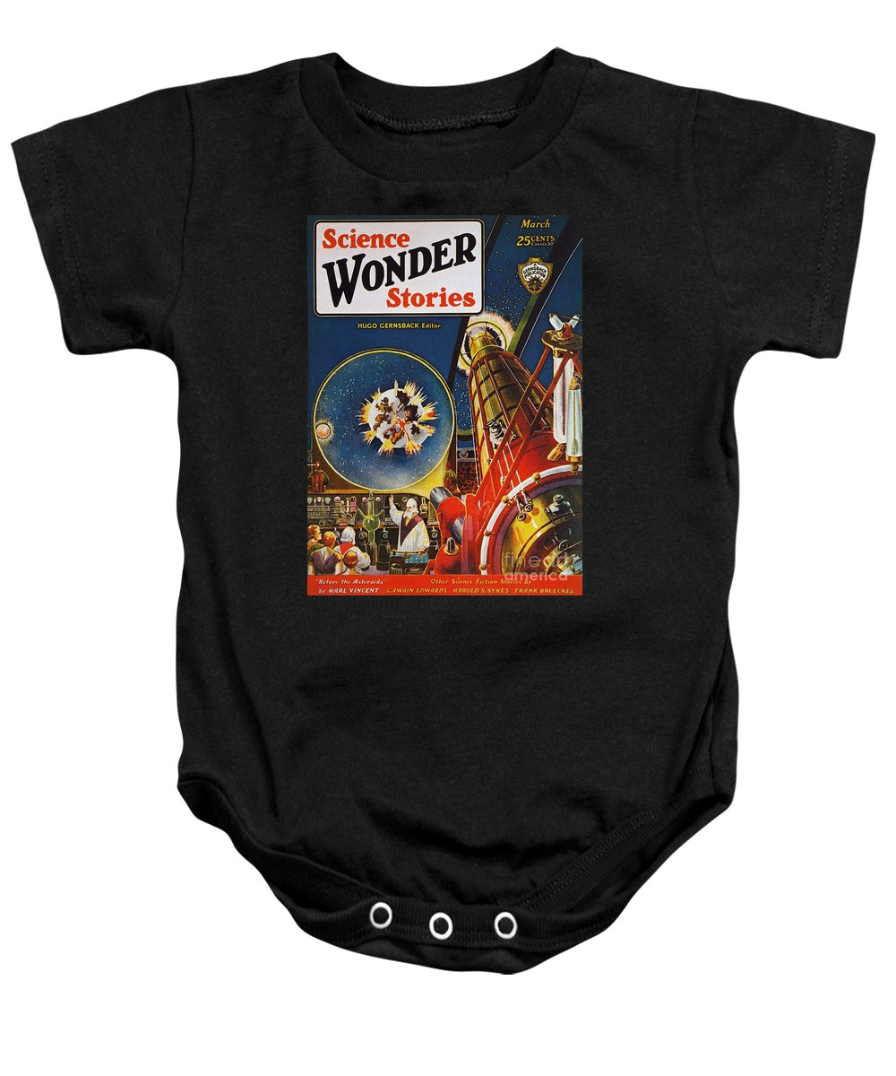 1930 Baby Onesie featuring the photograph Sci-fi Magazine Cover, 1930 by Granger