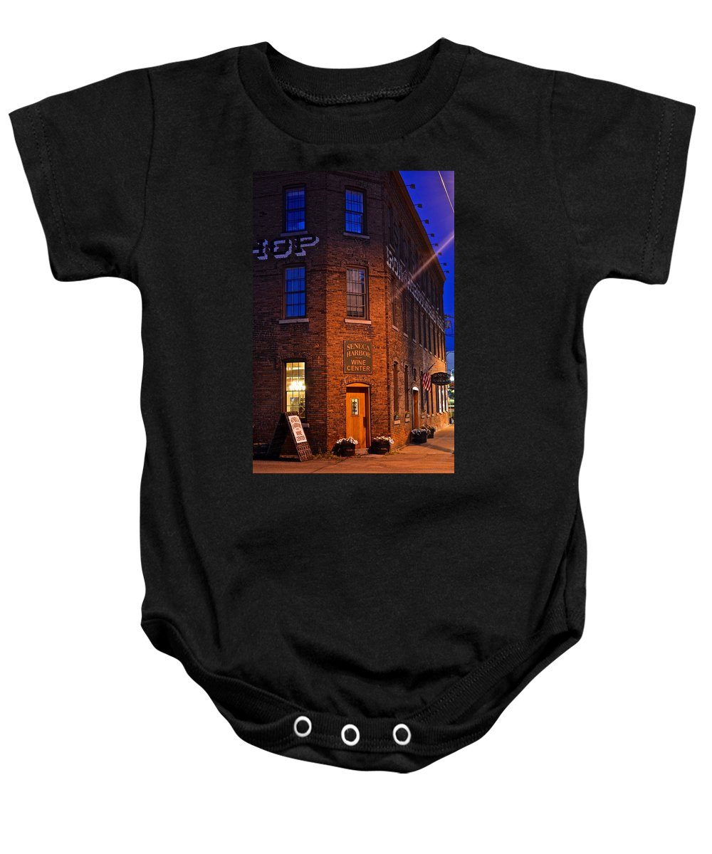 Seneca Baby Onesie featuring the photograph Seneca Winery by Frozen in Time Fine Art Photography