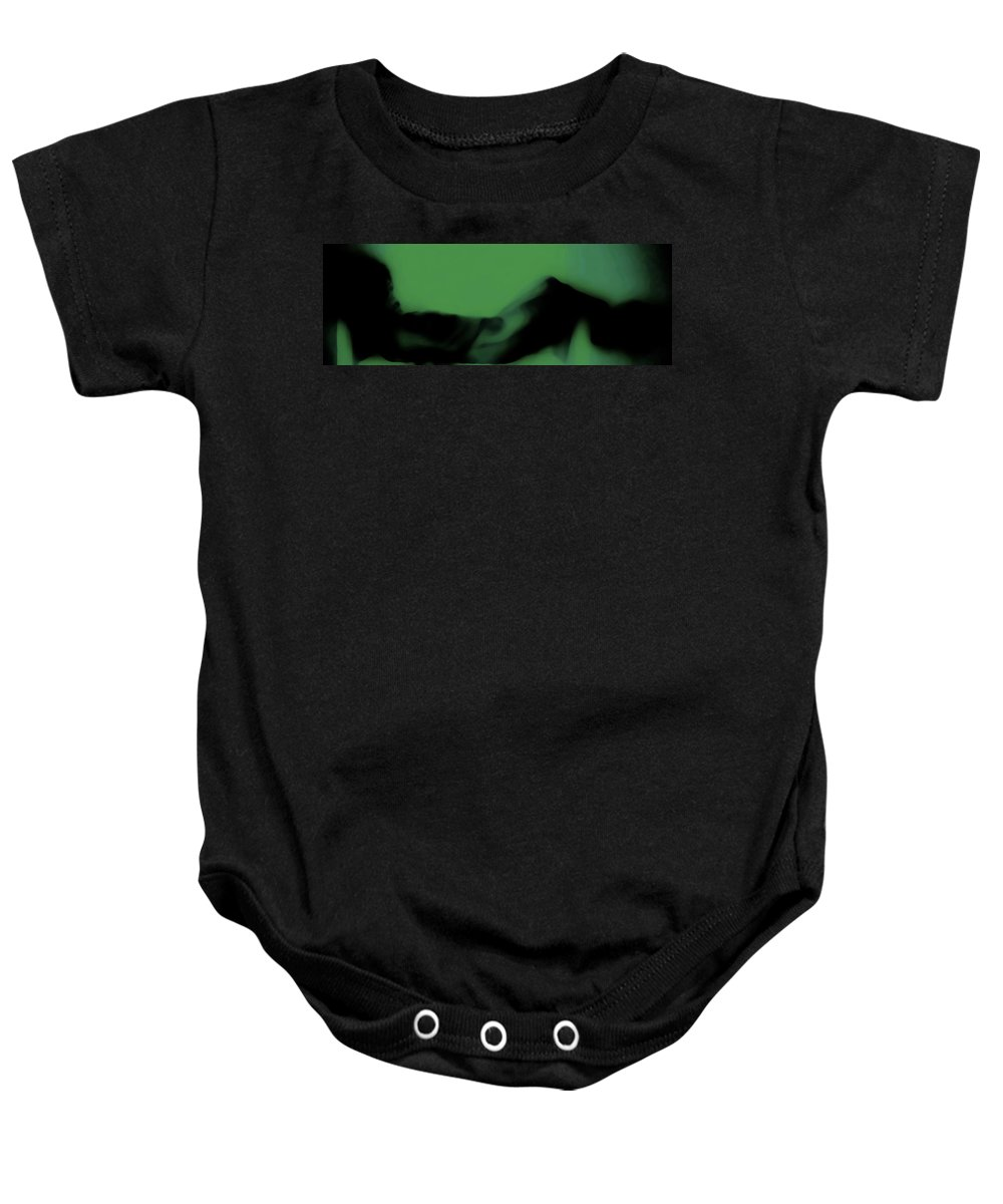 Green Baby Onesie featuring the photograph Serpents Lounge by Jessica Shelton