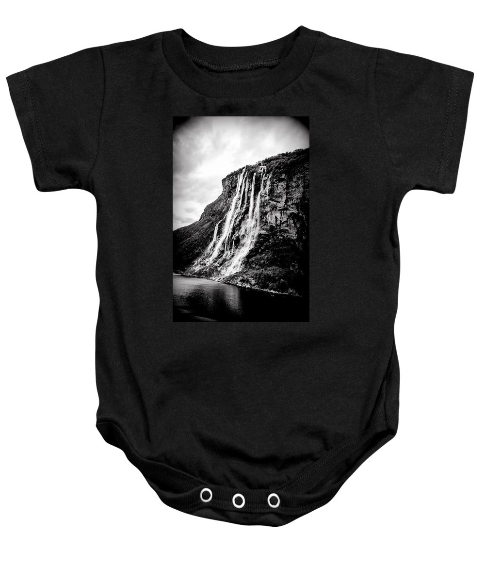 Norway Baby Onesie featuring the photograph Seven Sisters Waterfall by Bill Howard