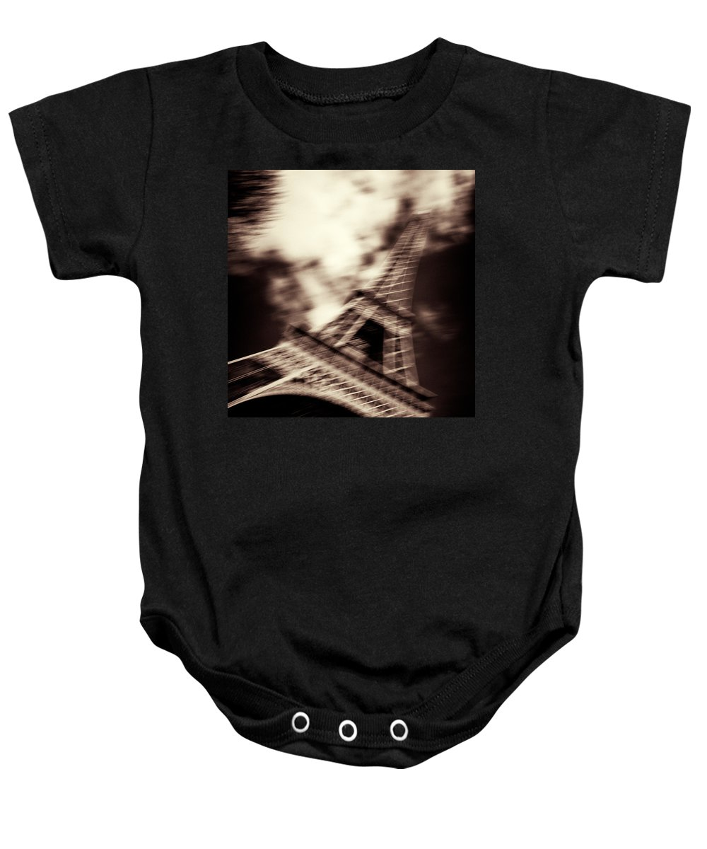 Eiffel Tower Baby Onesie featuring the photograph Shades Of Paris by Dave Bowman